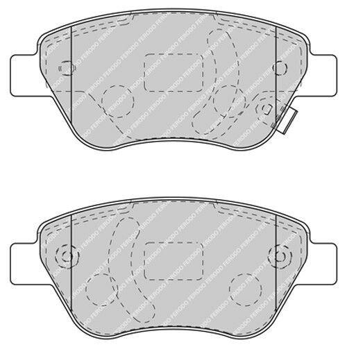 Genuine Ferodo PAIR of Front Brake Pads FDB1639