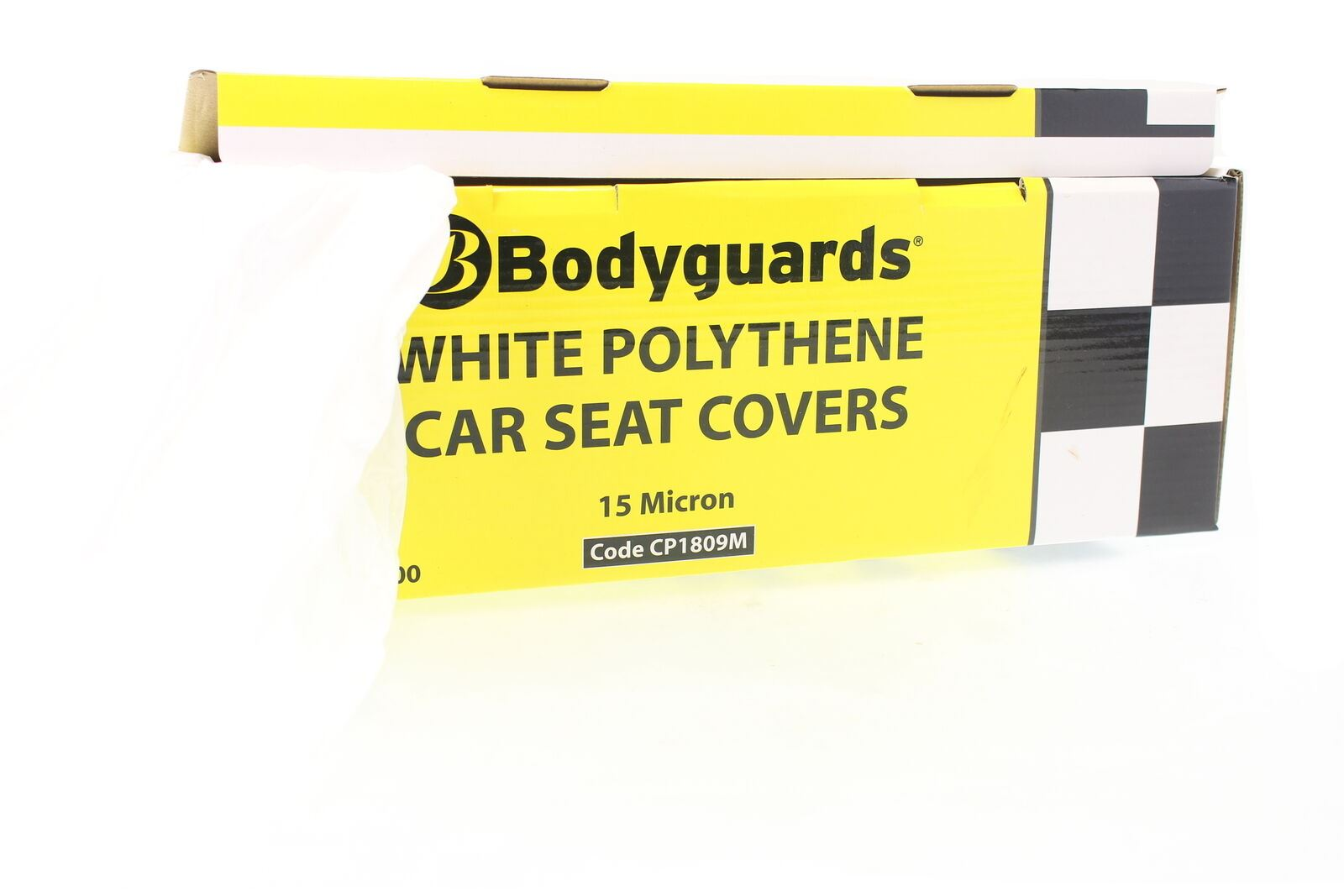 CP1809M 100 units Centre Feed 15Micron Polythene Disposable Car Seat Cover