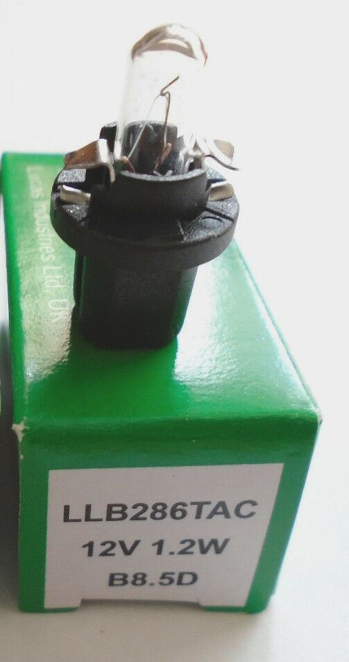 Lucas B8.5D LLB286TAC Car Gauge Instrument Panel Dashboard Light Bulbs 12v 1.2w