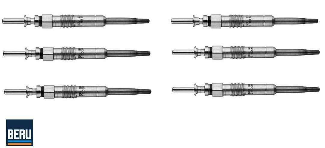 6  X    BERU GE102 Glow Plugs set of 6