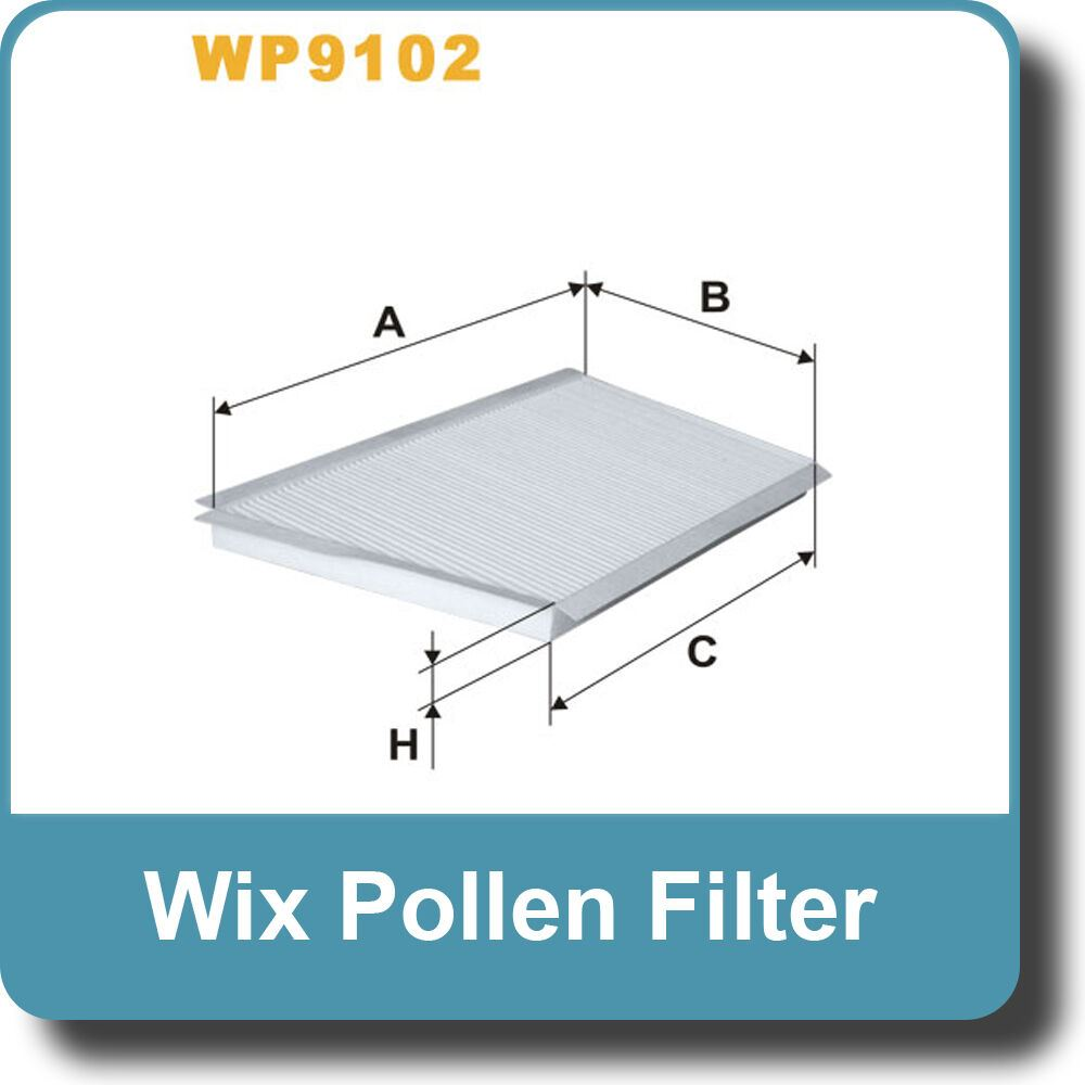 NEW Genuine WIX Replacement Pollen Filter WP9102