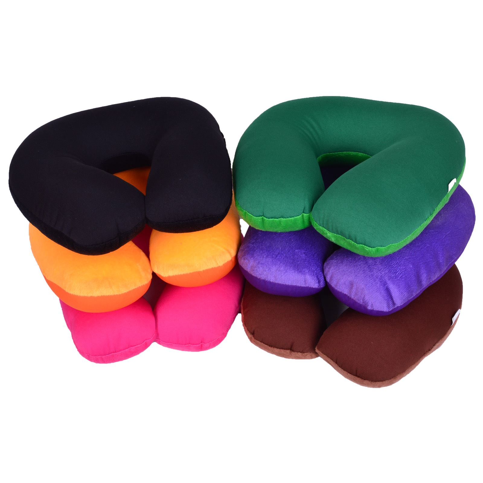 Super Soft Travel Neck Cushion Pillow Microbead Polyester Camping Holiday Sleep