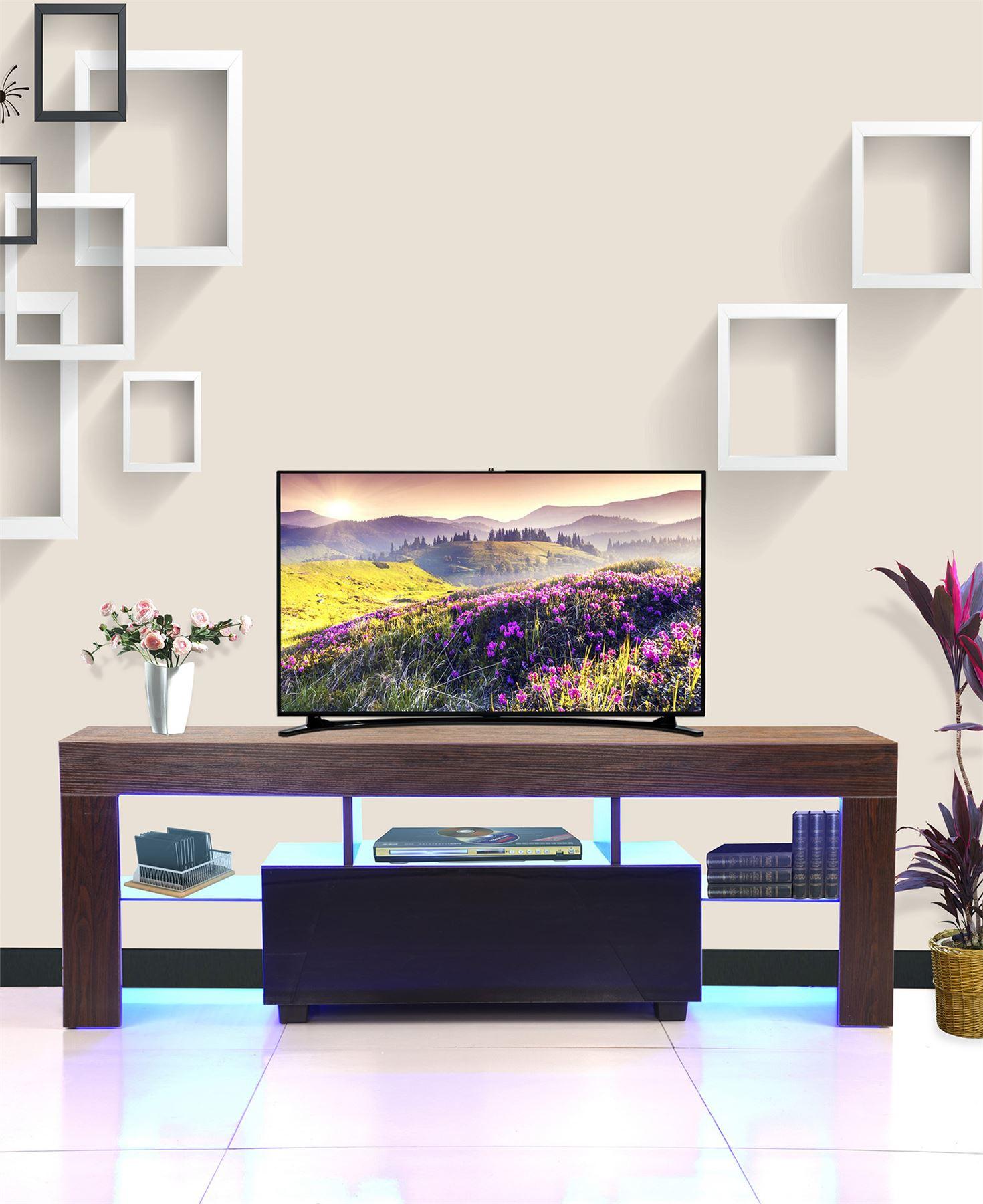 High Design Furniture: Modern TV Cabinet White 130cm Stand Unit Furniture High