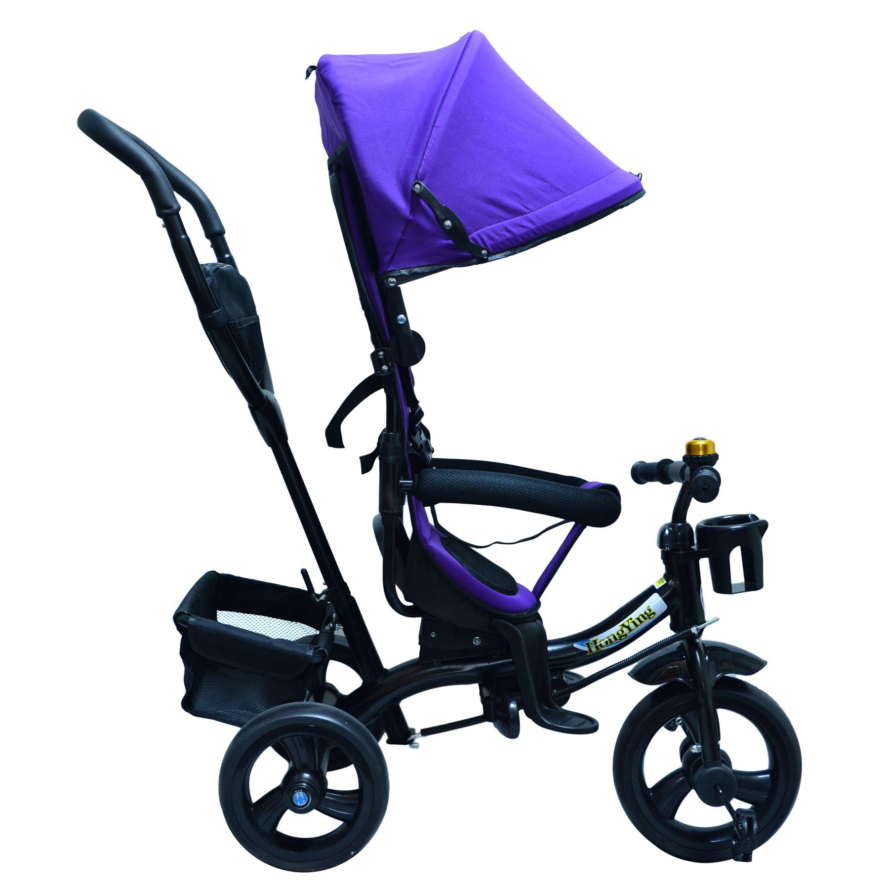 4 In 1 Ride-On Toys Baby Toddler Pram Tricycle Bike Trike ...