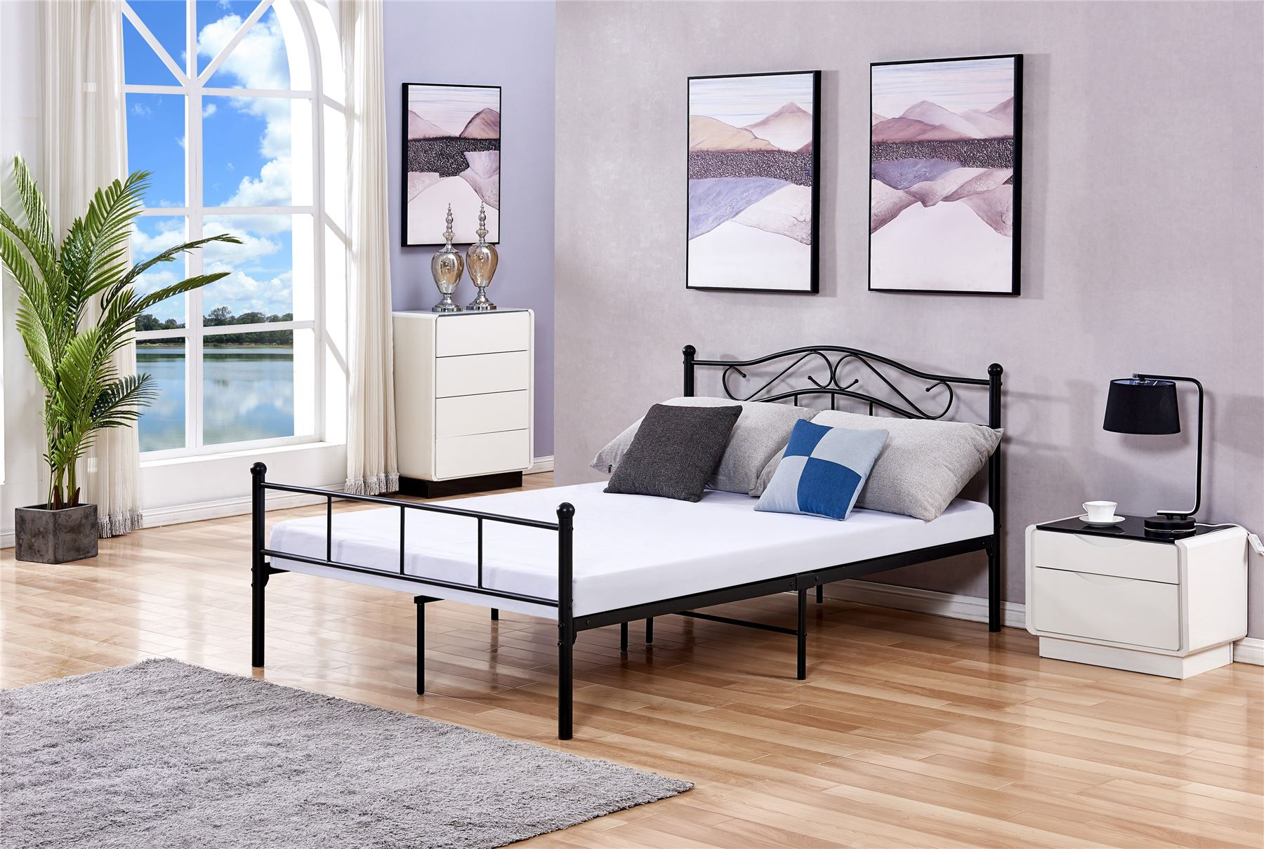 Luxury Metal Bed 2019 Designs Single Double King Metal Bed ...