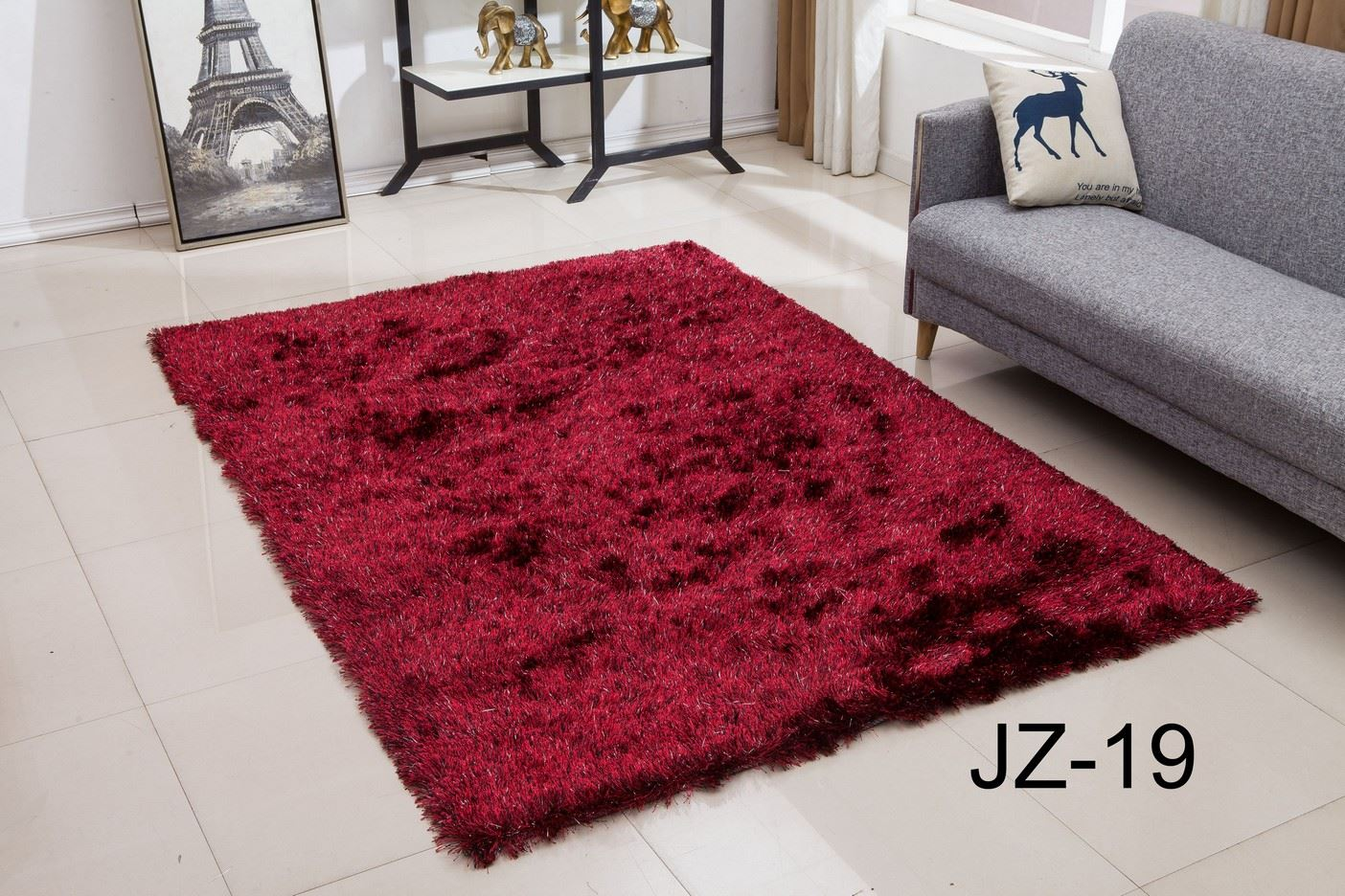Small and large size thick plain soft shaggy living room - Small living room rug ...