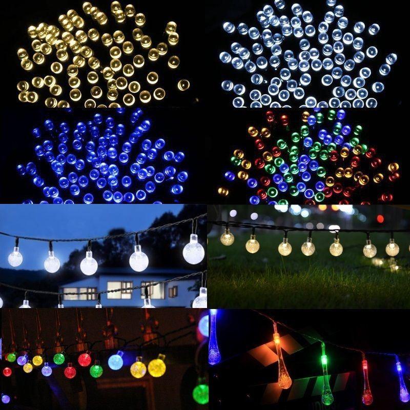Garden Lighting Equipment 100 200 Led Solar Powered Fairy Lights String Garden Outdoor Party Wedding Xmas Kisetsu System Co Jp