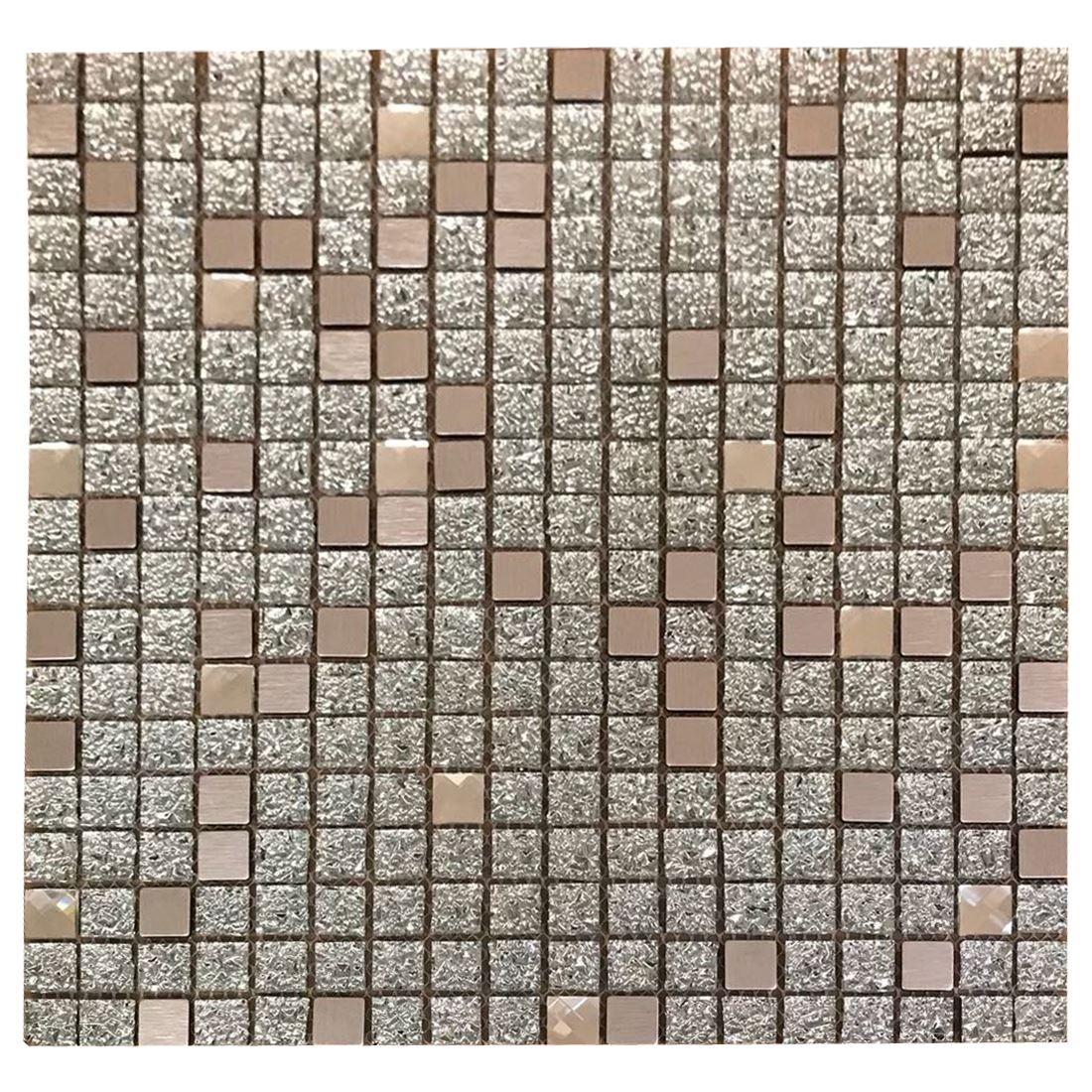 New Arrival Imported Designer Wall Tile 300x600mm: Aluminum Crystal Glass Square Mosaic Tiles Sheet Walls