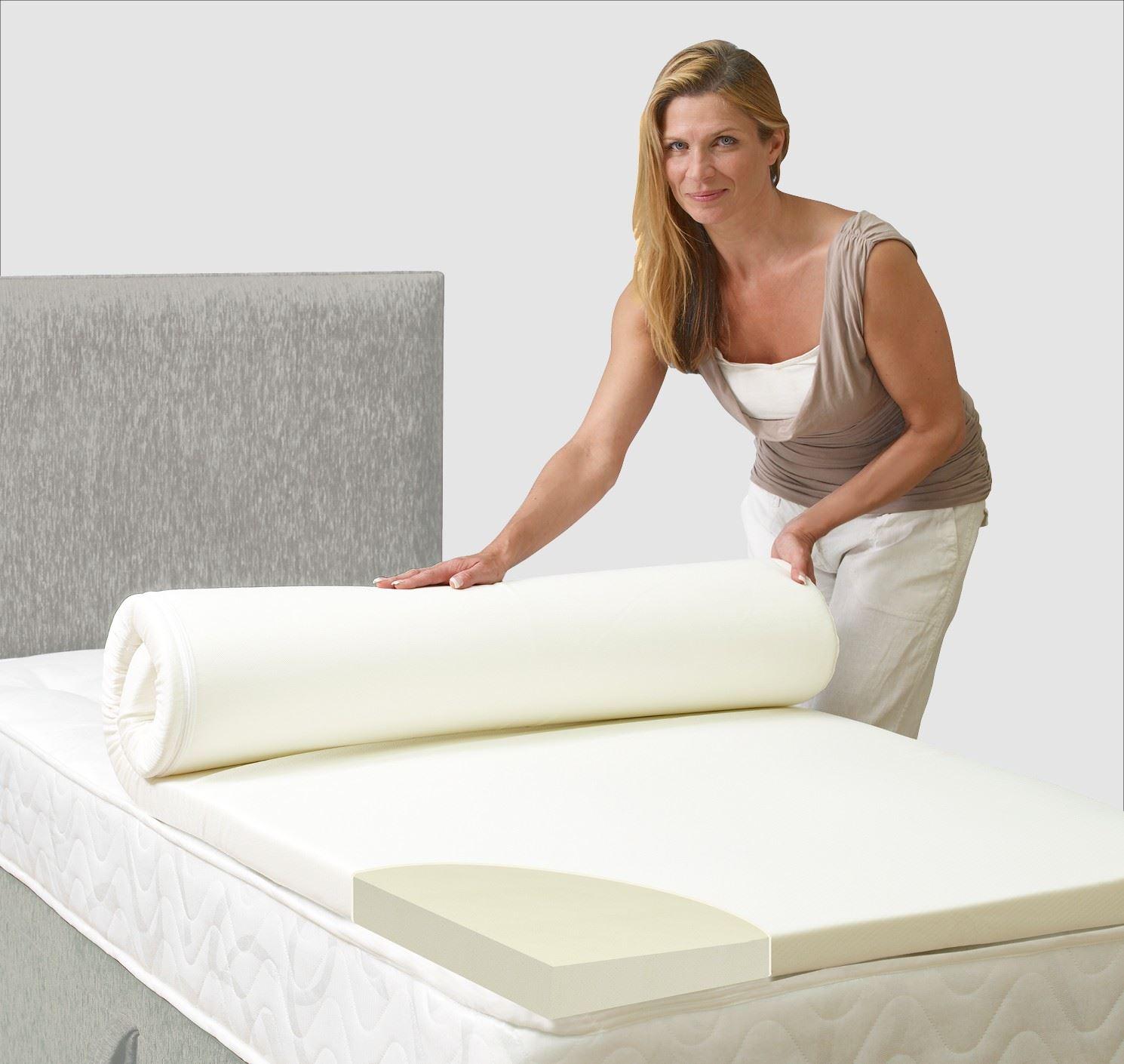 memory foam visco mattress topper king uk new offer ebay. Black Bedroom Furniture Sets. Home Design Ideas