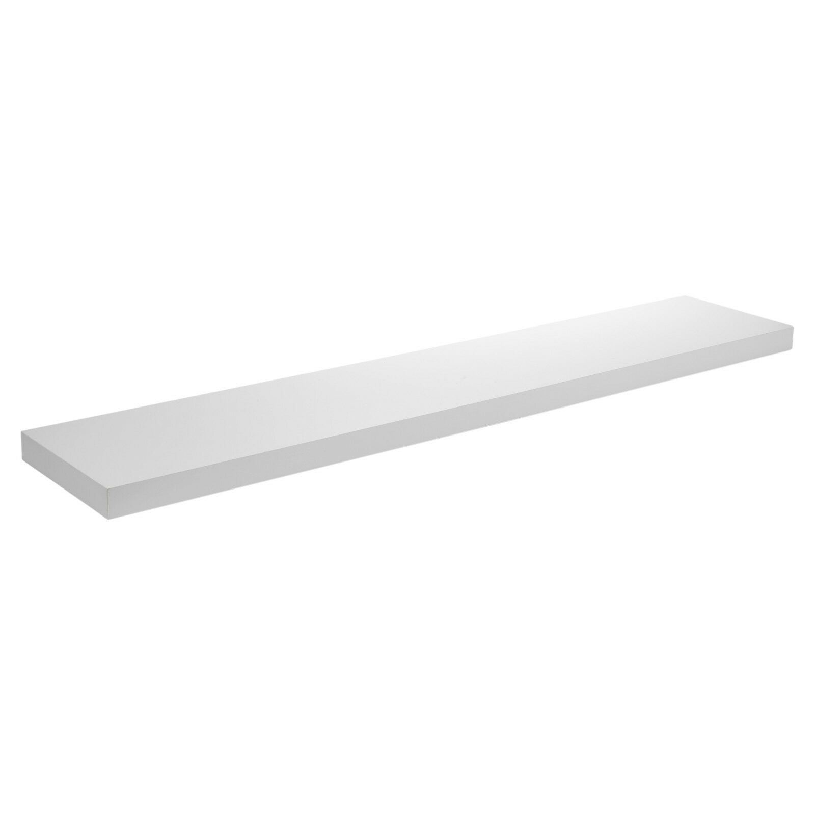 Floating-Wooden-Wall-Shelves-Shelf-Wall-Storage-3-Sizes-White-and-Marble thumbnail 13