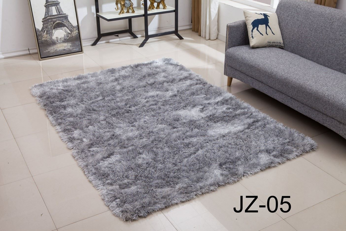 small and large size thick plain soft shaggy living room