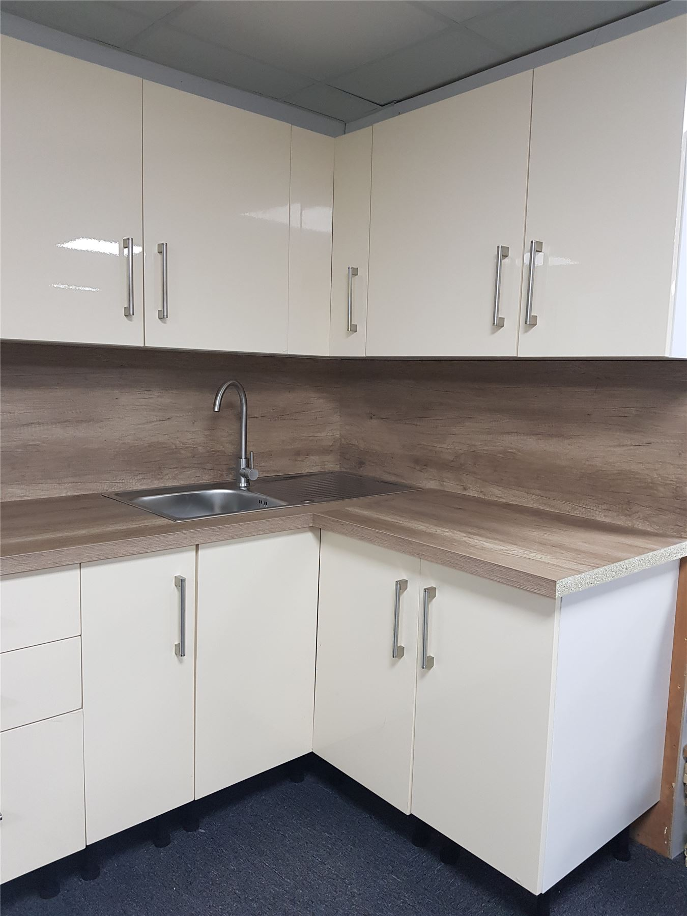 Furniture Cream High Gloss Kitchen Wall Base Units Carcass Cabinet Set Soft Close Doors Home Furniture Diy Mhg Co Ke