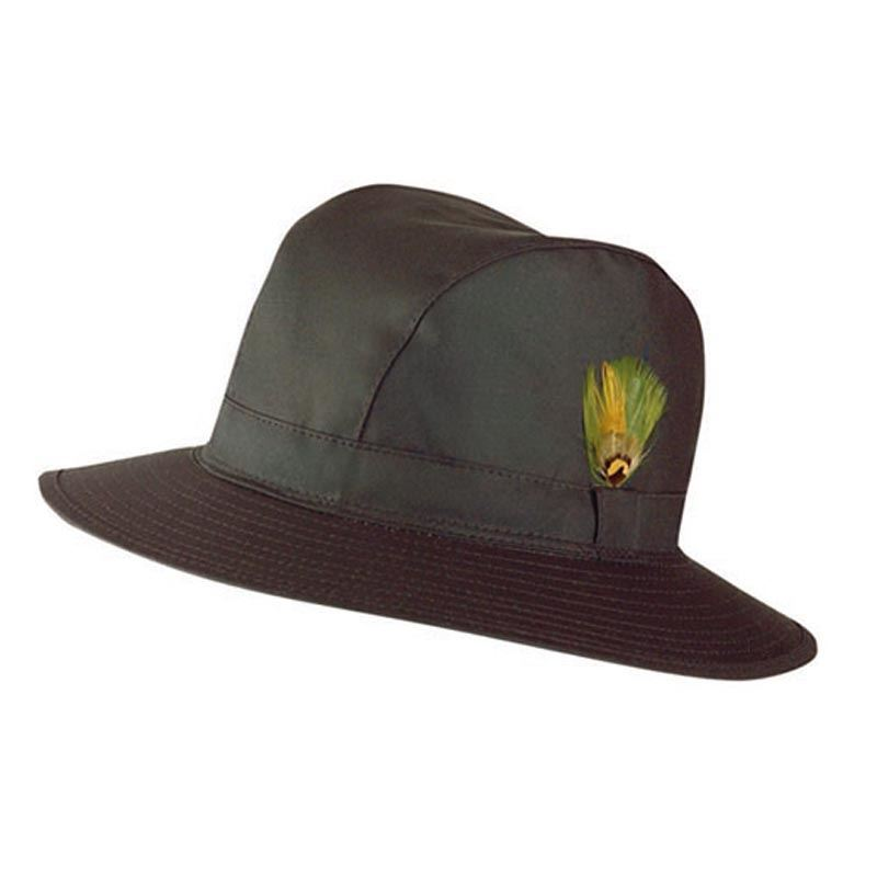 Jack Murphy Ladies Waxed Waterproof Trilby Hat Green Hat019 M Medium ... 3bb54ab7a03