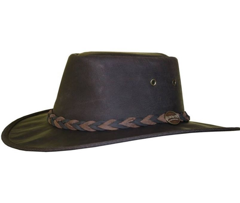 Barmah Outback Roo Hat Brown Crackle