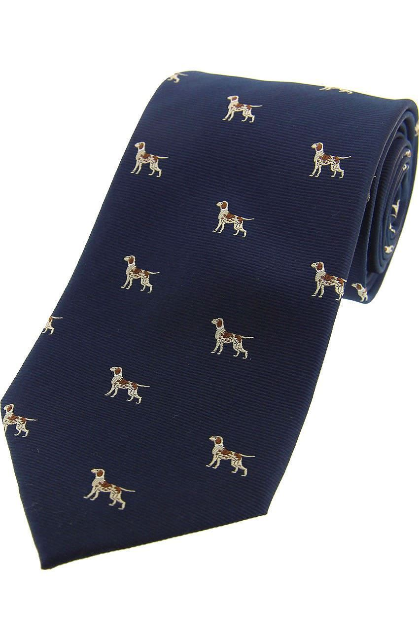 Country Silk Tie - Spaniels