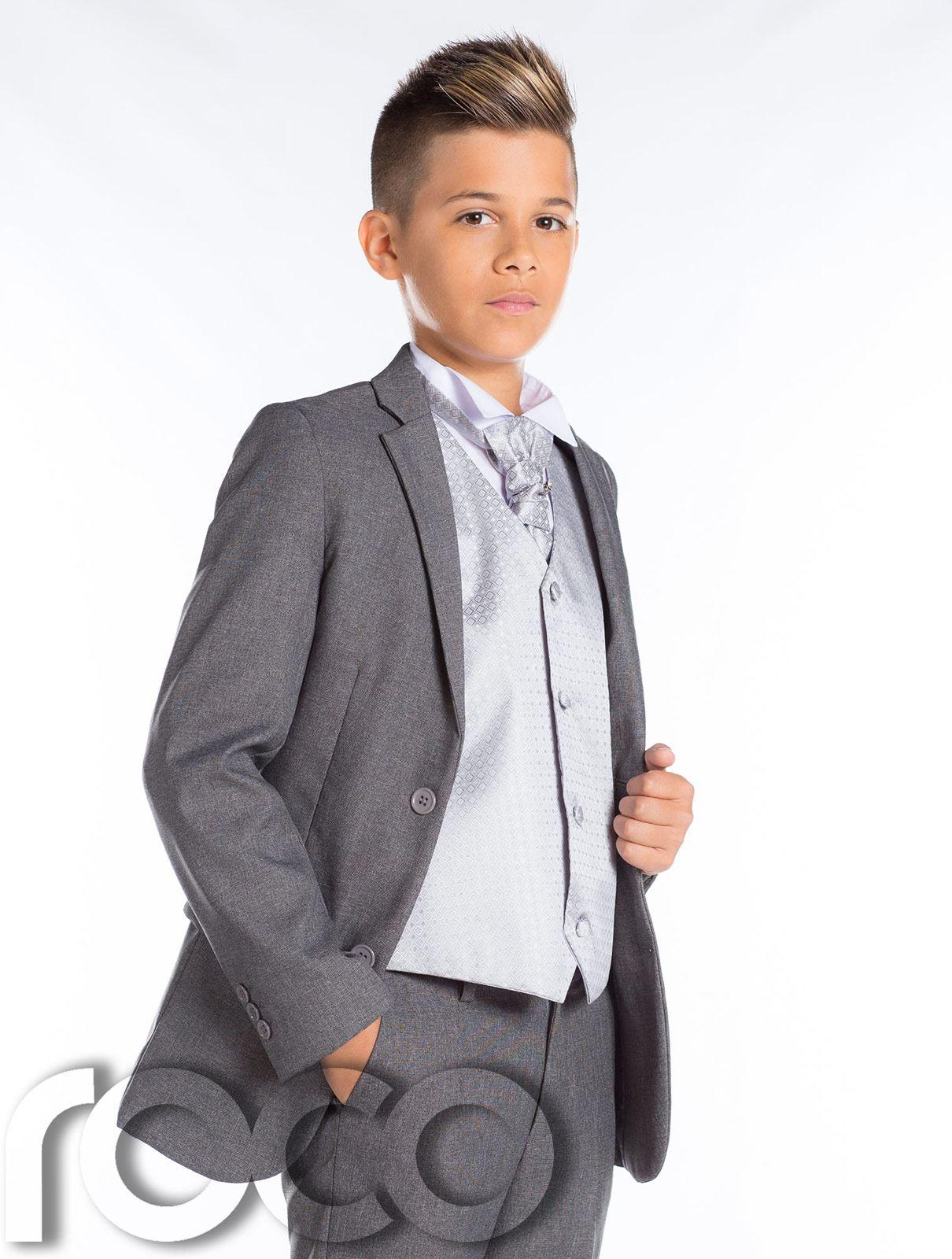 Boys Wedding Suit, Slim Fit Suit, Boys Grey Suit, Boys Prom Suit ...