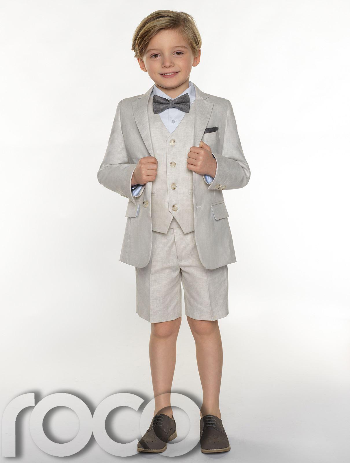 Boys-suits-boys-lin-costumes-page-garcon-tenues-garcons-formal-suits-avec-short miniature 8