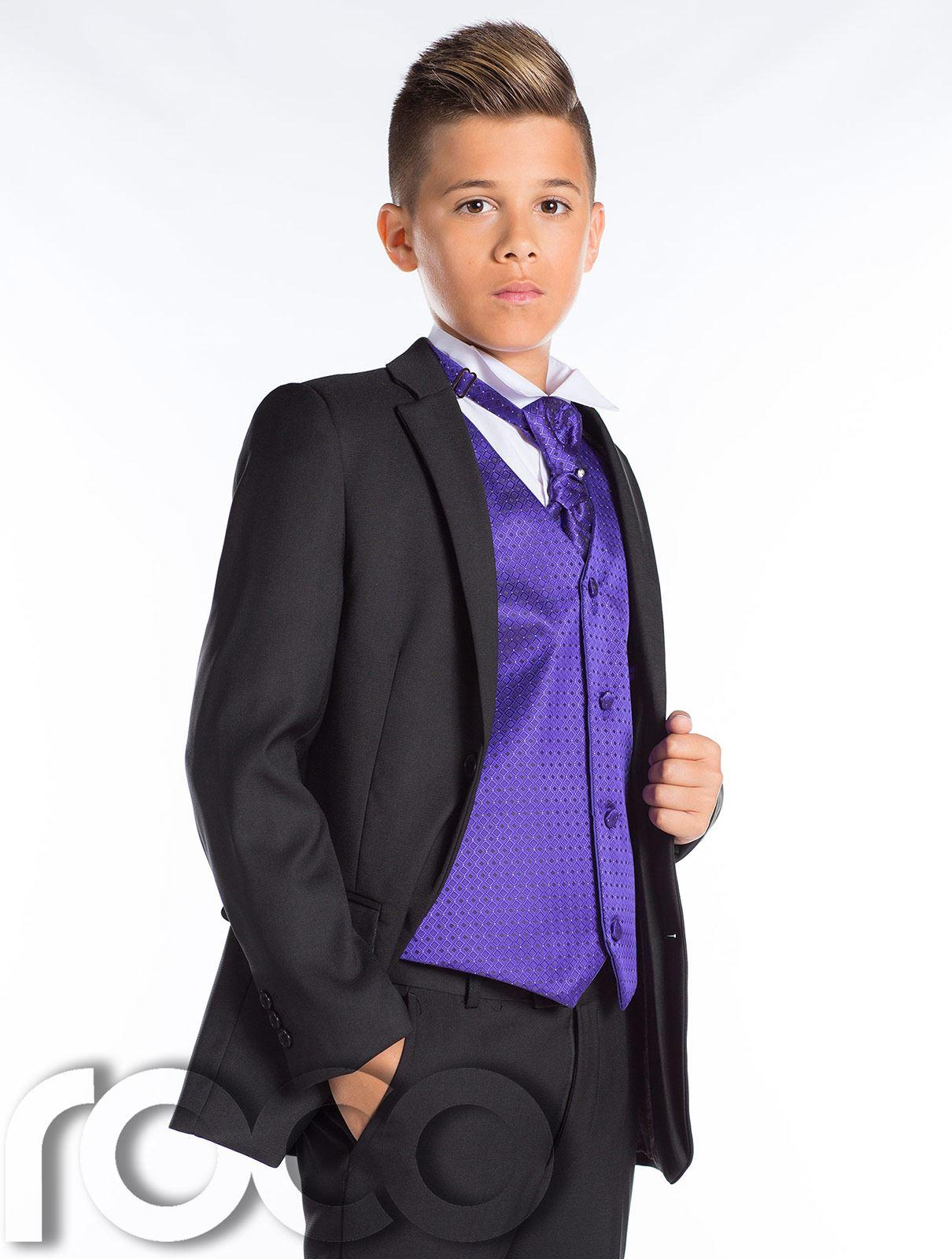 Boys Black Suit, Page Boy Suit, Boys Wedding Suit, Black Suit, Slim ...