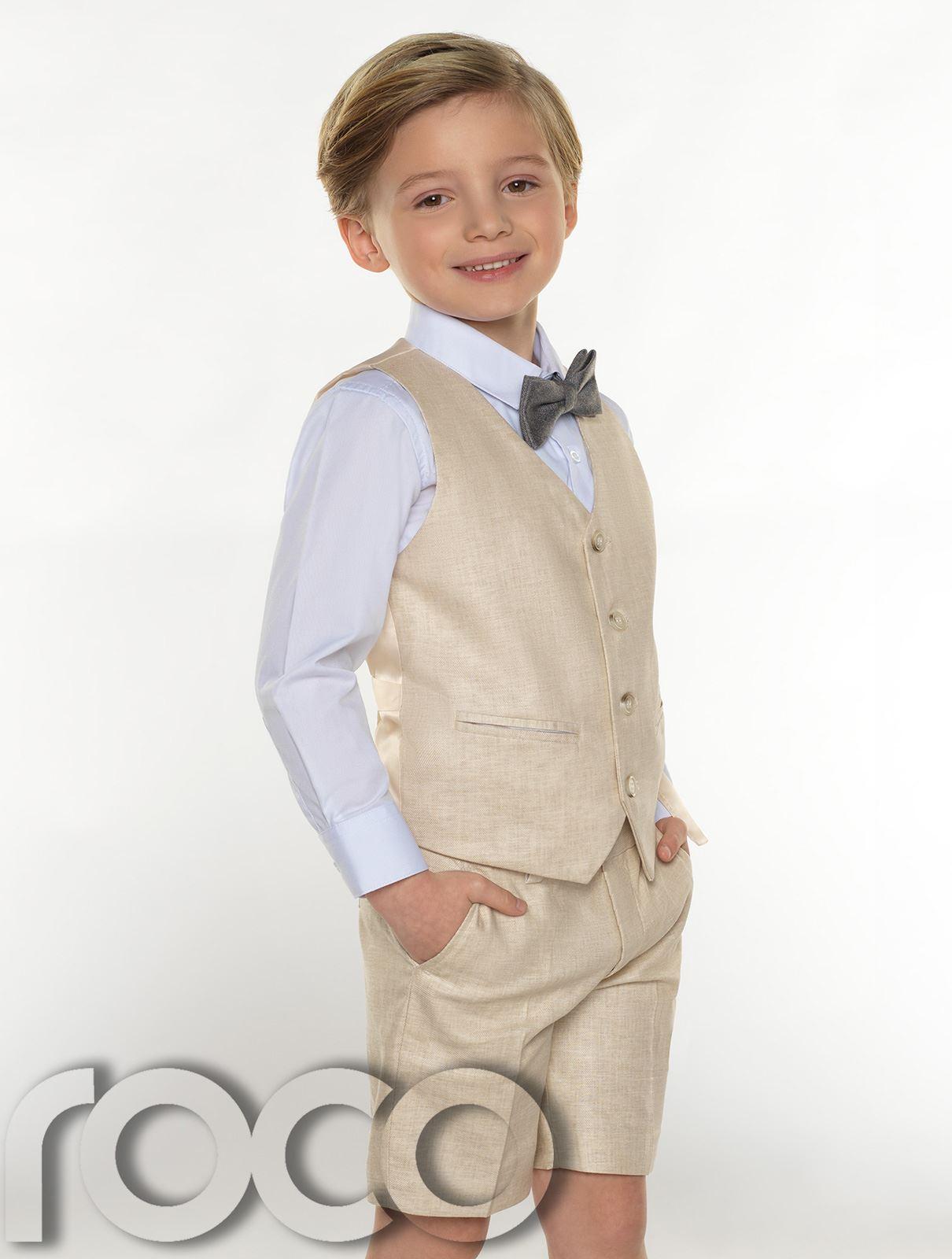 Boys-suits-boys-lin-costumes-page-garcon-tenues-garcons-formal-suits-avec-short miniature 4