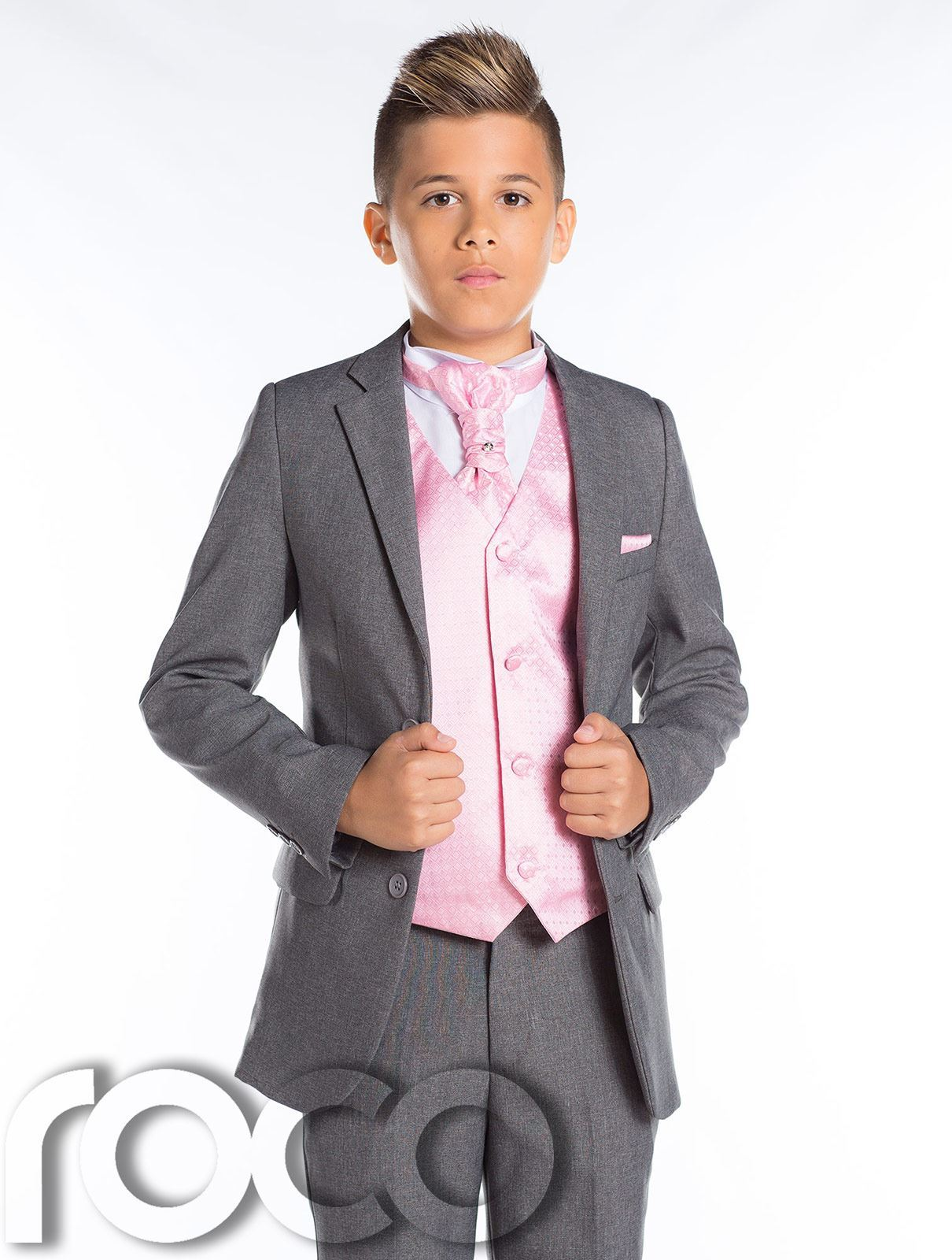 Boys Wedding Suit Slim Fit Suit Boys Grey Suit Boys Prom Suit