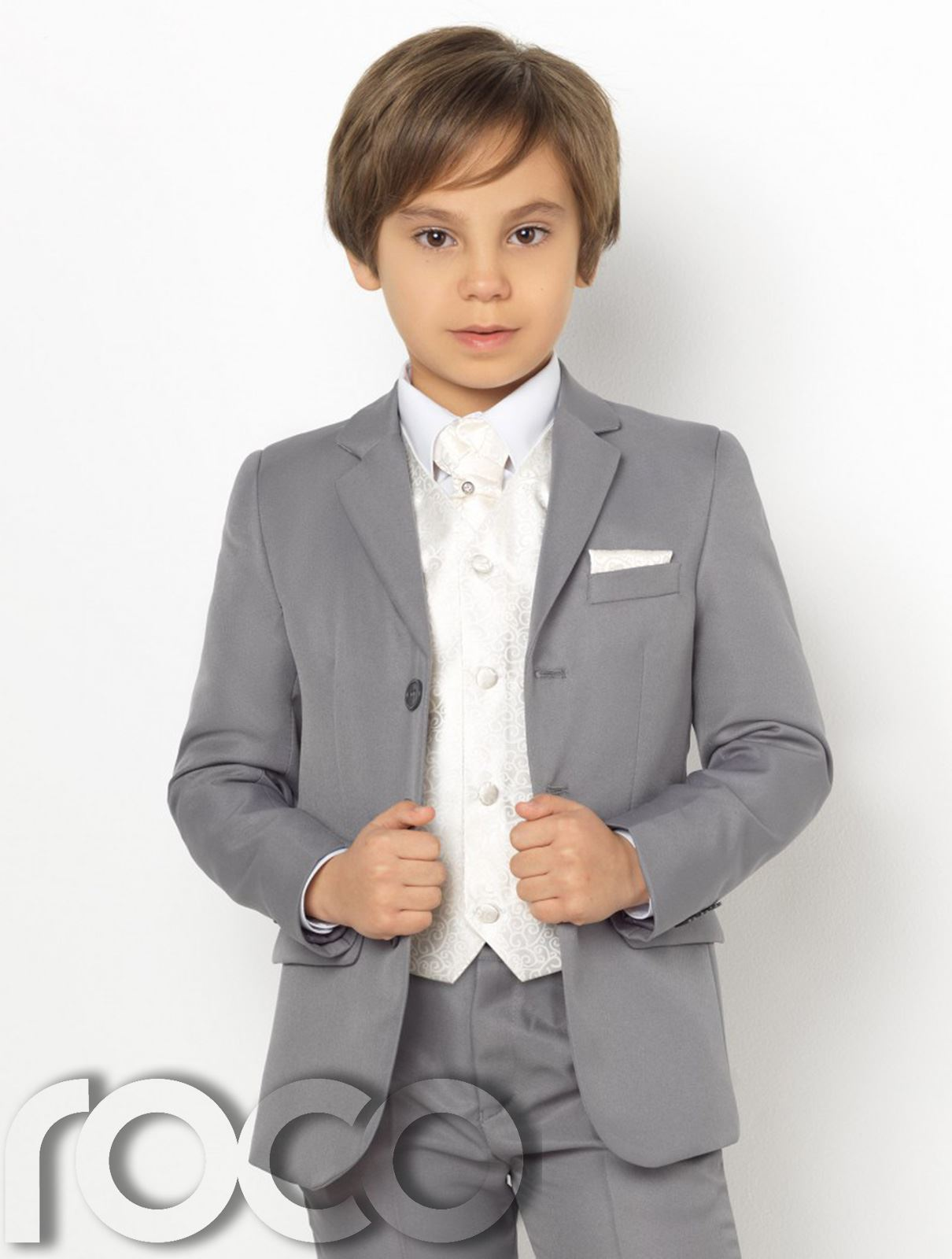 Boys Grey Suit, Page Boy Suits, Boys Prom Suits, Swirl Waistcoat Set ...