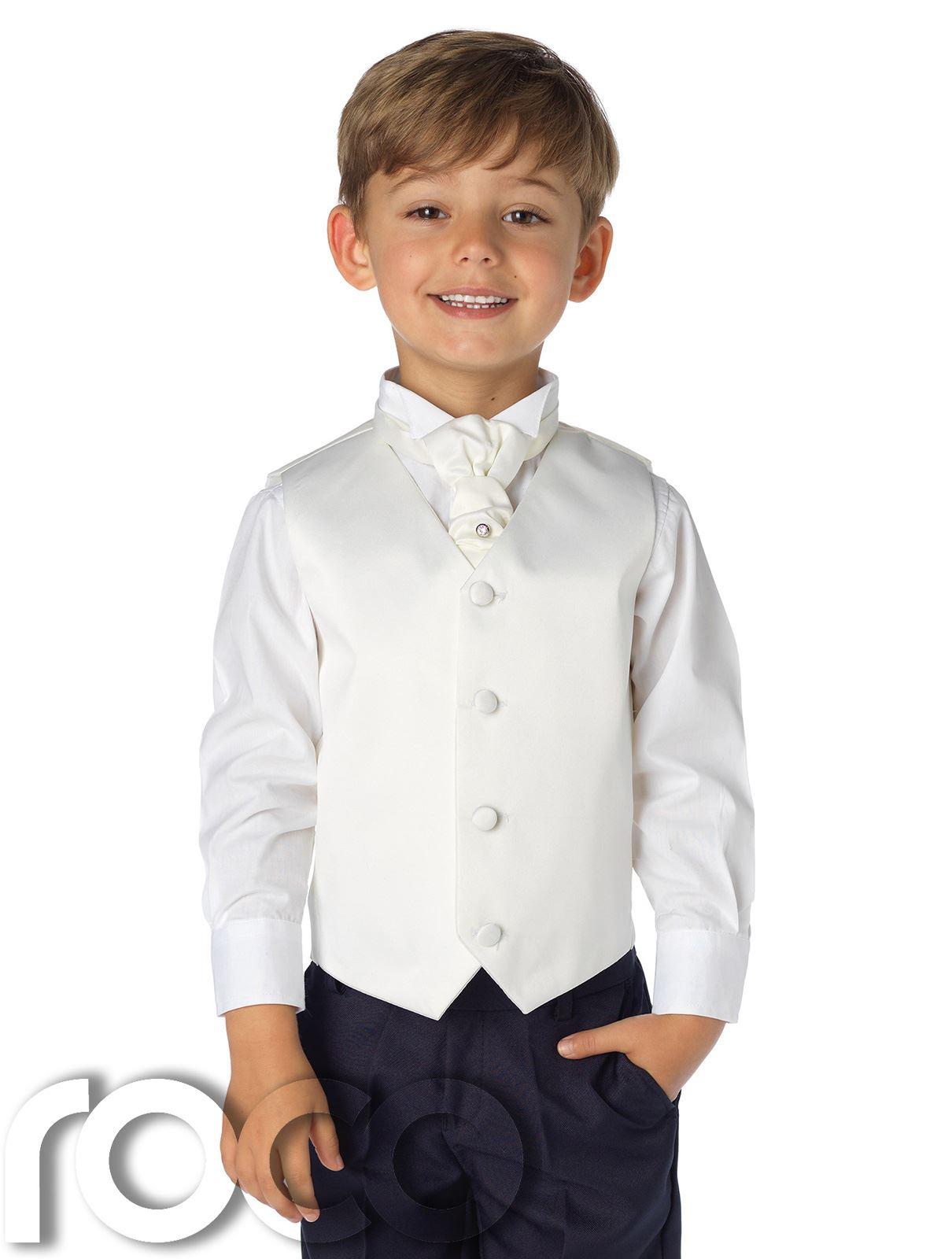 Boys Waistcoat Suit, Page Boys Suits, Boys Wedding Suit, Navy ...