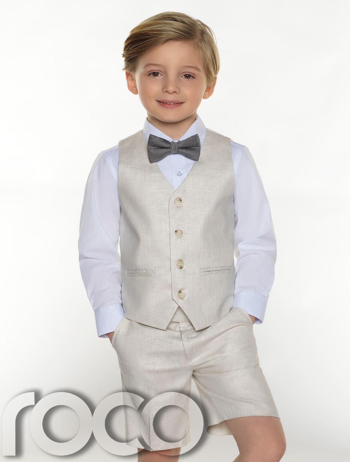 Boys-suits-boys-lin-costumes-page-garcon-tenues-garcons-formal-suits-avec-short miniature 9