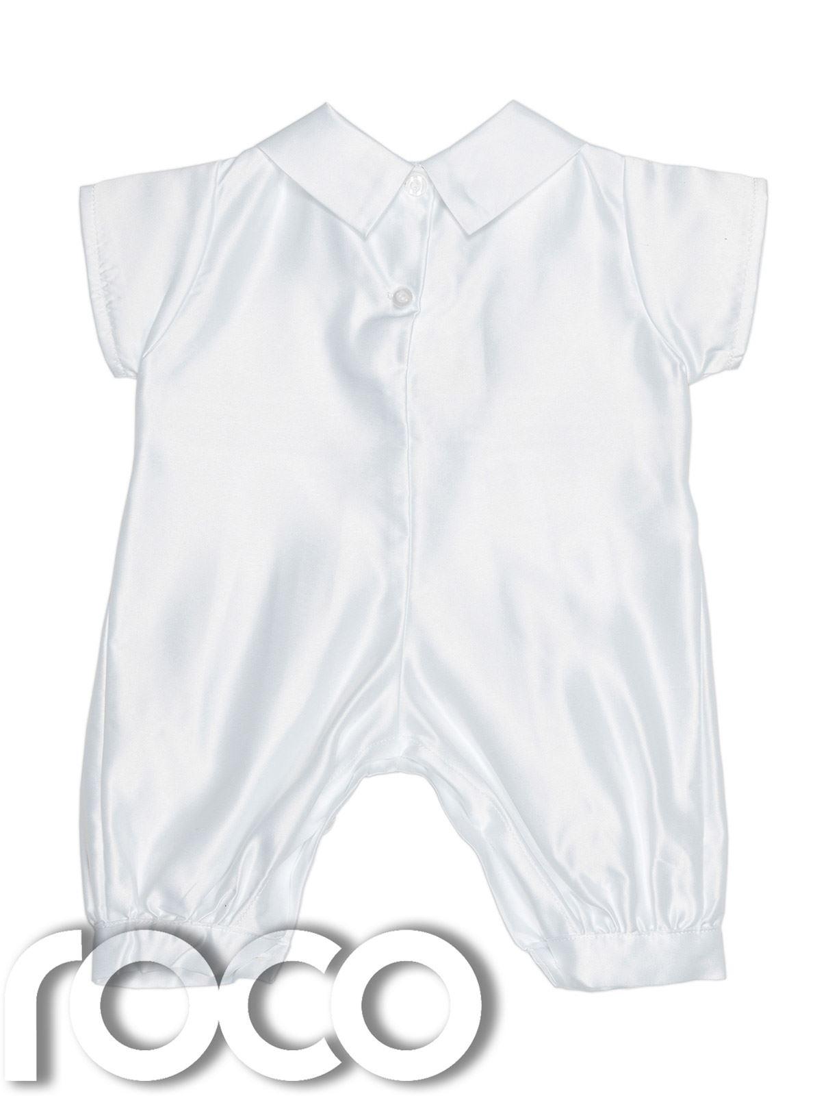 baby jungen taufe outfit wei strampelanzug wei blau baby strampler ebay. Black Bedroom Furniture Sets. Home Design Ideas