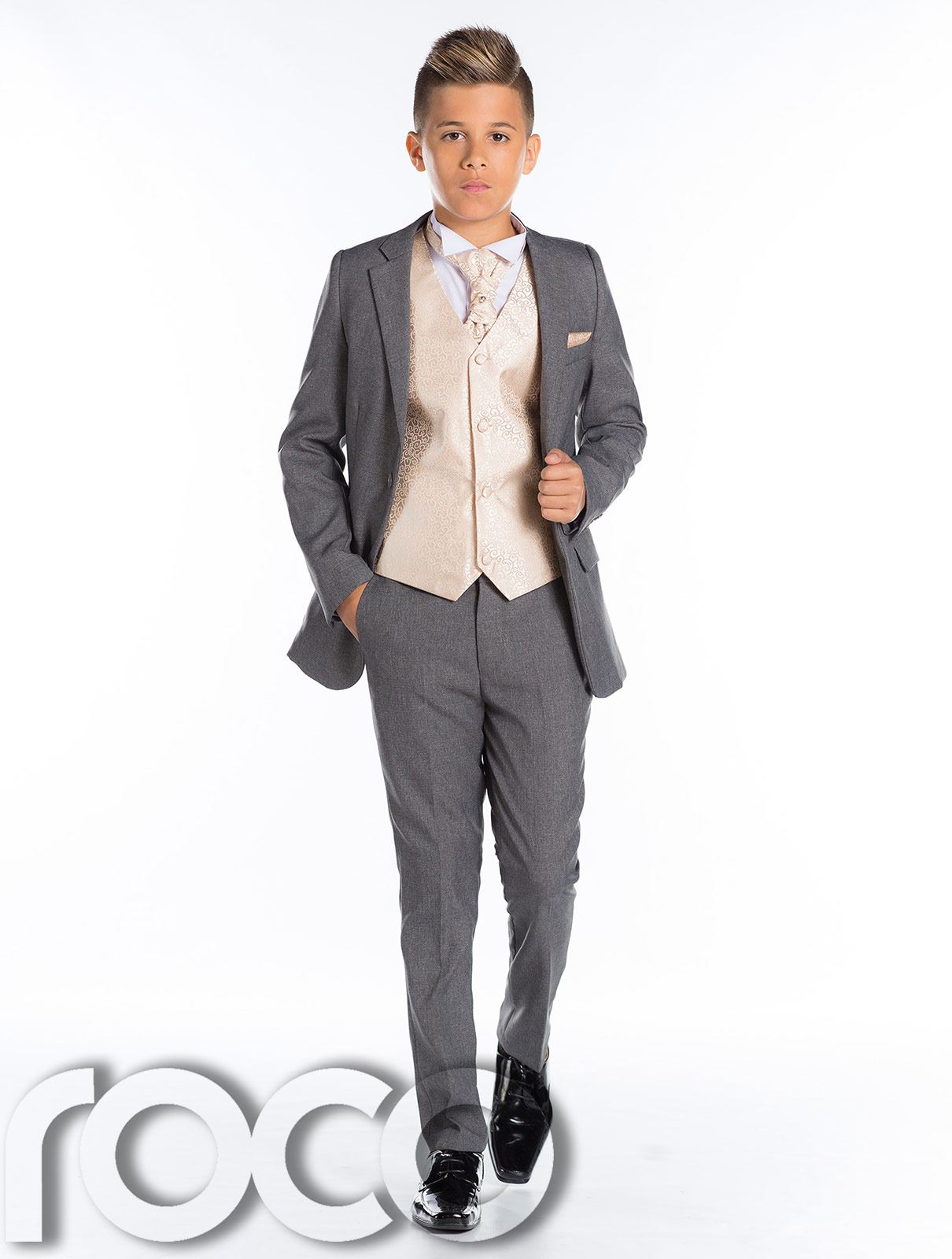 Boys Wedding Suit Page Boy Suit Boys Grey Suit Grey Slim Fit Suit