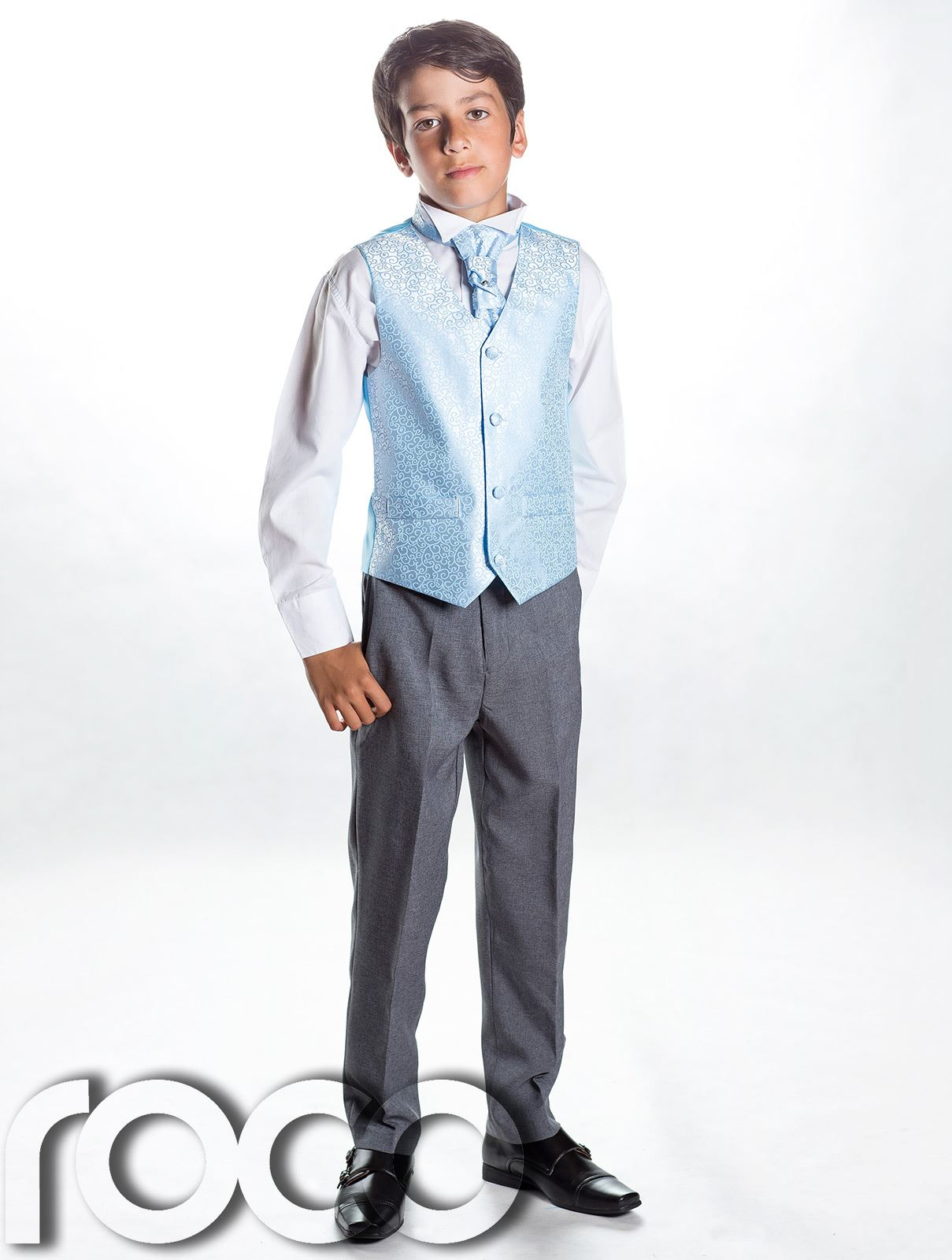 Not only this our versatile collection for boys suits contains boy's christening suits for the memorable occasion also this suits come in a variety of pieces such as Boys 3 piece suits, Boys 4 piece suits and Boys 5 piece suits.