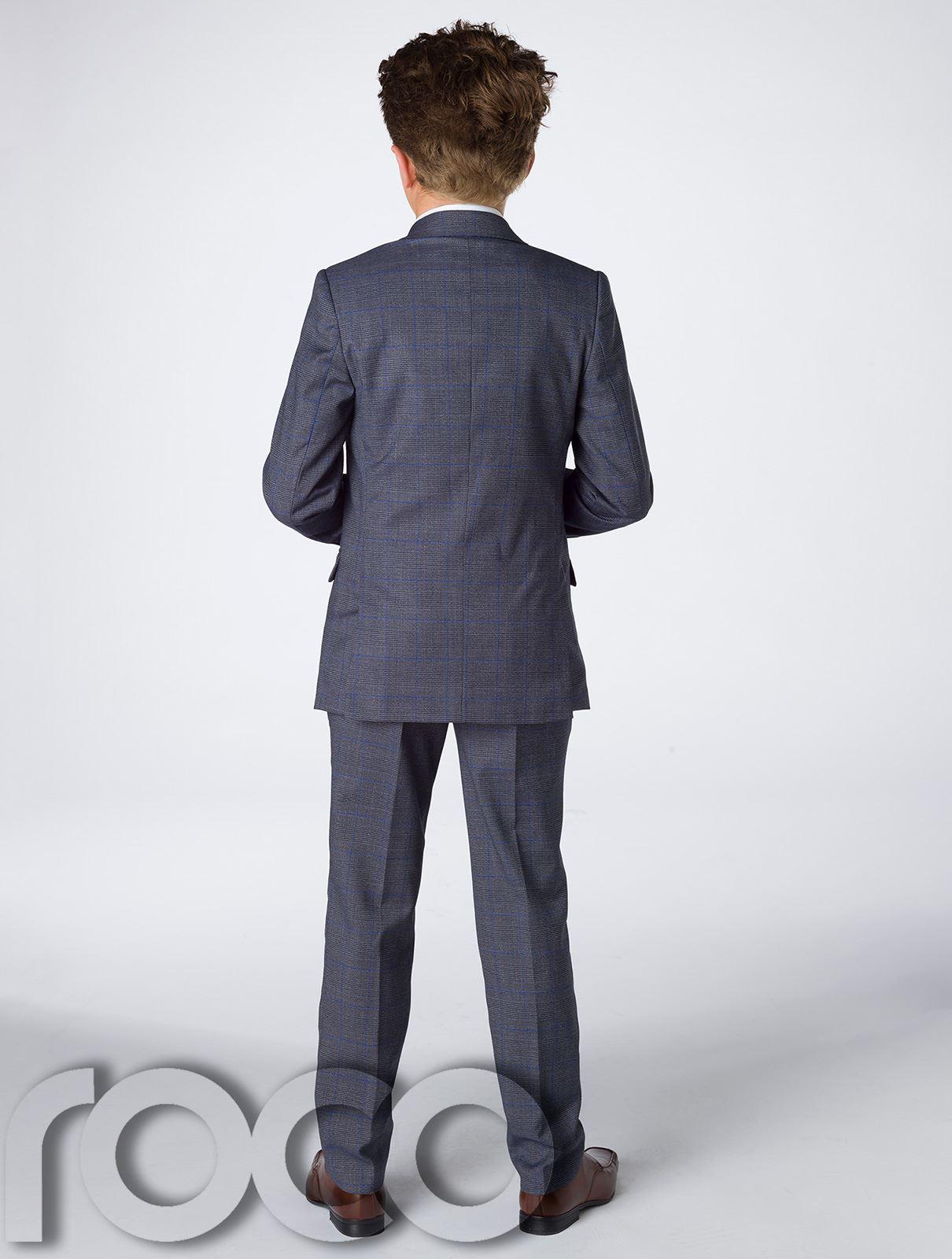 Garcons-bleu-marine-suit-garcons-gris-suit-garcons-carreaux-costume-slim-fit-costume-page-boy miniature 6