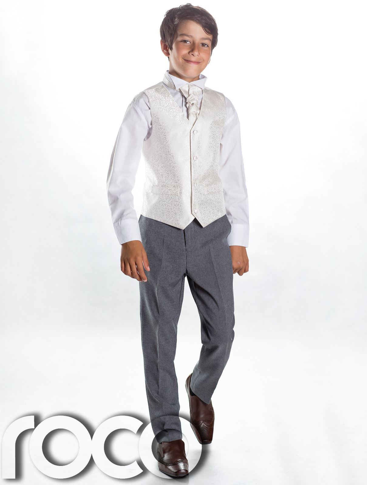 Getting your little guy ready for that special occasion will be a breeze with our new season edit of boys' occasionwear. Christening, wedding or family party, whatever the celebration, he'll look super smart in our boys' suits, shirts and jumpers. Finish his look with a snappy pair of leather shoes and a bow tie.