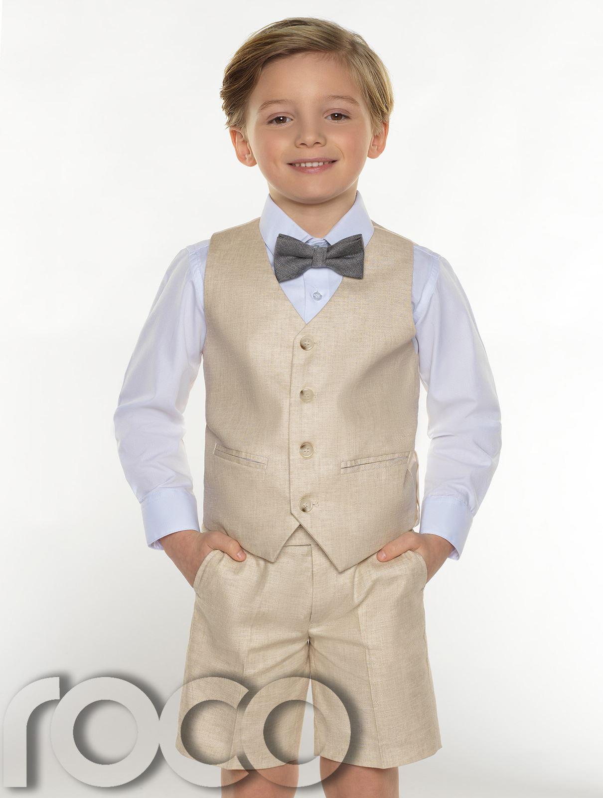 Boys-suits-boys-lin-costumes-page-garcon-tenues-garcons-formal-suits-avec-short miniature 5