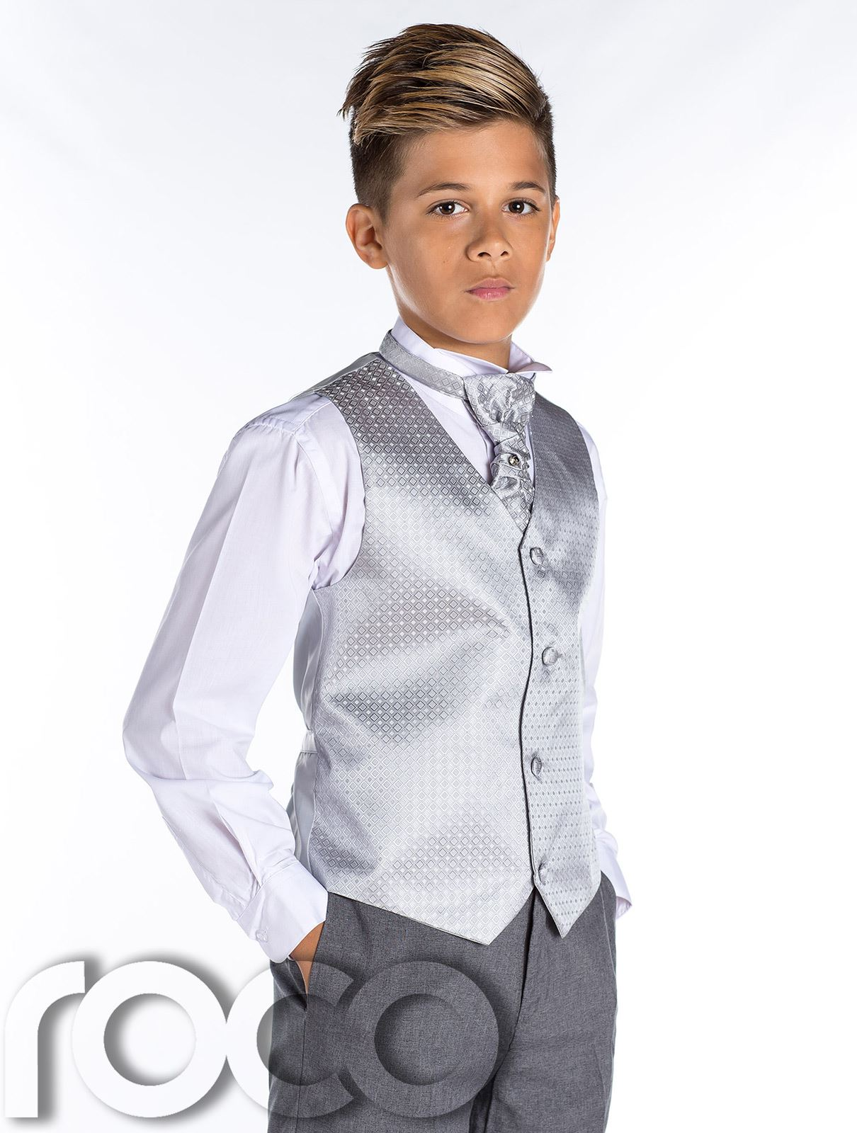 Shop boys grey Roco 3 piece suit at Roco. Boys grey prom suits with free UK delivery & 30 day returns.