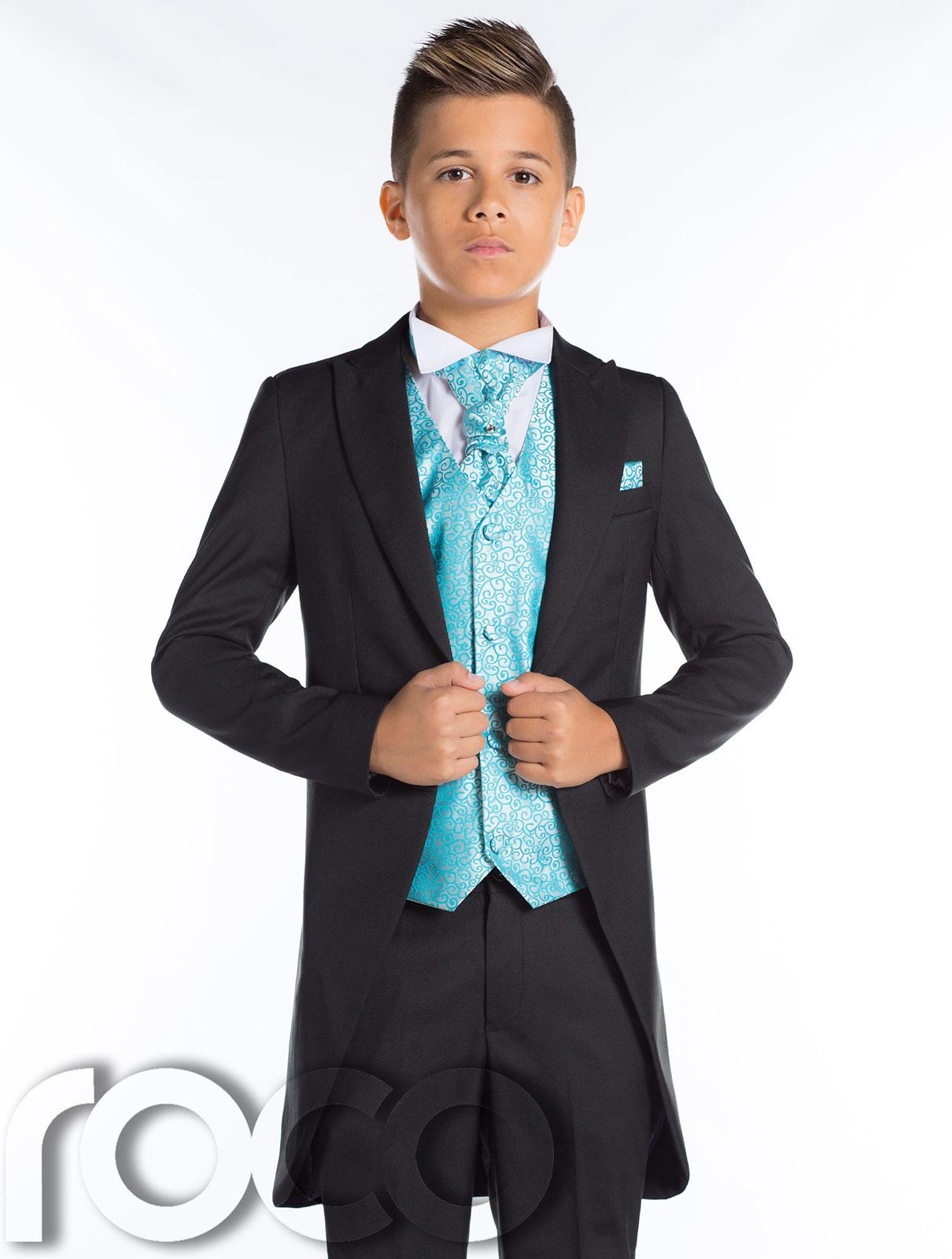 Page Boy Suits, Black Tail Suit, Boys Morning Suit, Black Prom Suit ...