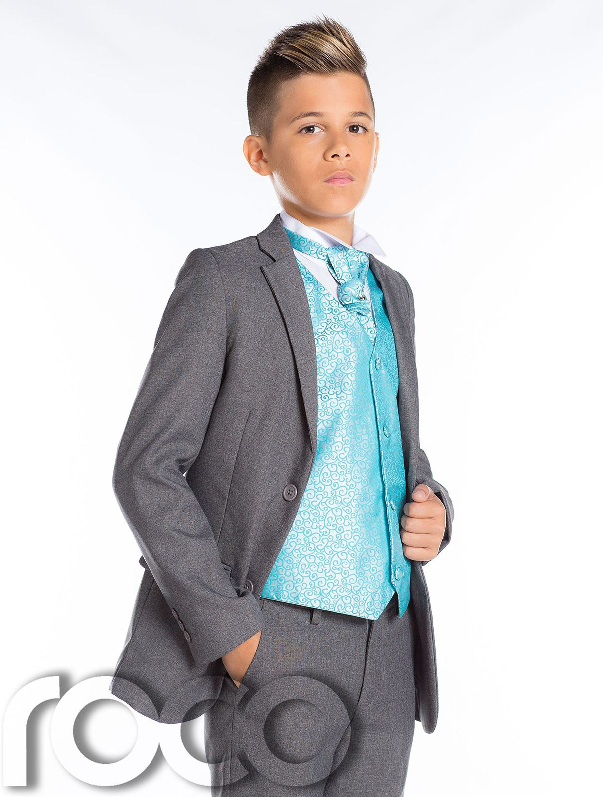 Boys Wedding Suit, Page Boy Suit, Boys Grey Suit, Grey Slim Fit Suit ...