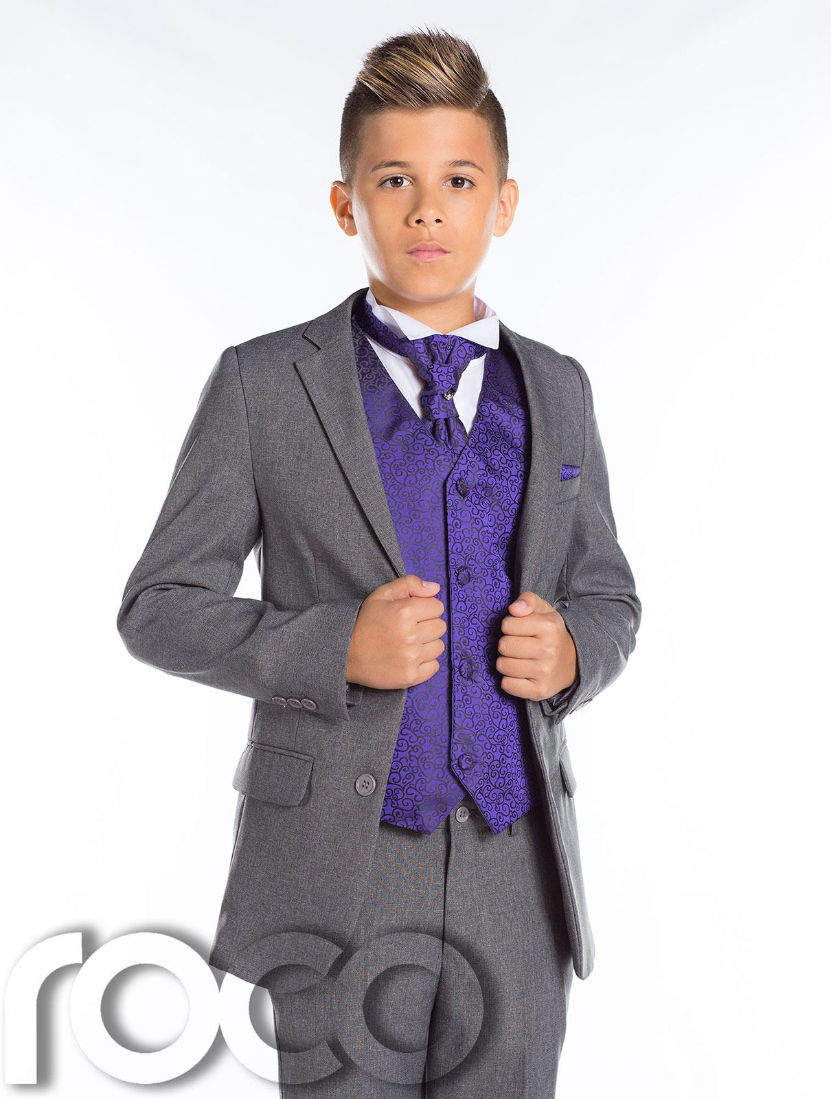 Boys Wedding Suit, Page Boy Suit, Boys Grey Suit, Grey Slim Fit ...