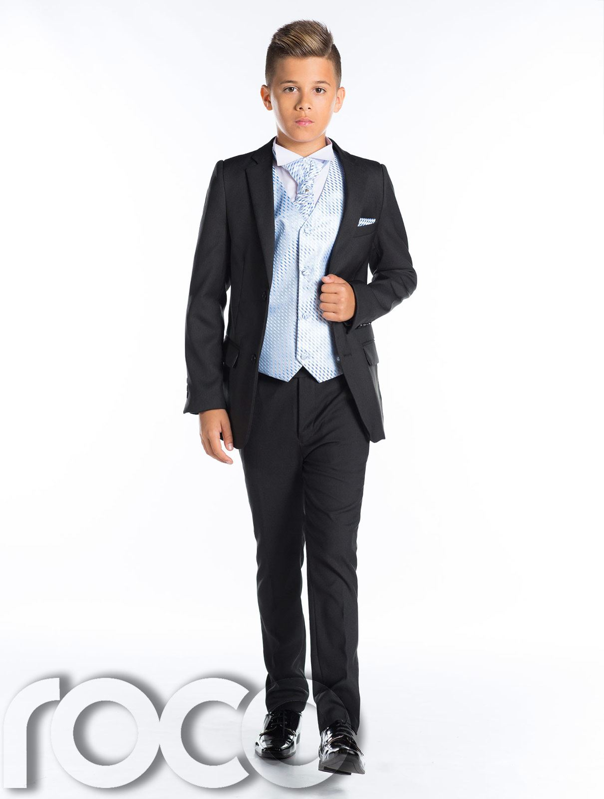 Boys Wedding Suit, Black Prom Suit, Page Boy Outfit, Boys Slim Fit ...