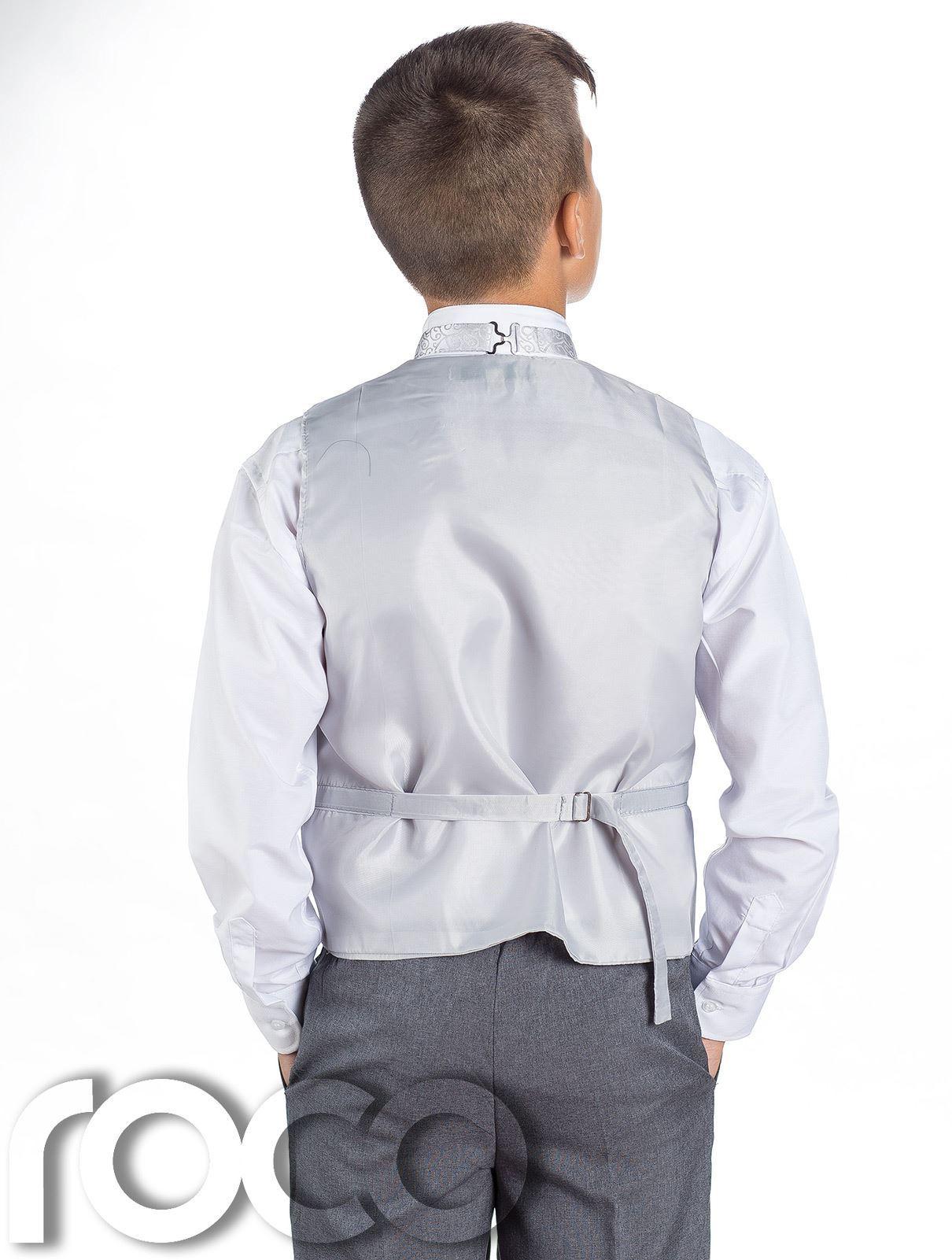 Boys Swirl Waistcoat Suit, Page Boy Suits, Boys Wedding Suits, Grey ...