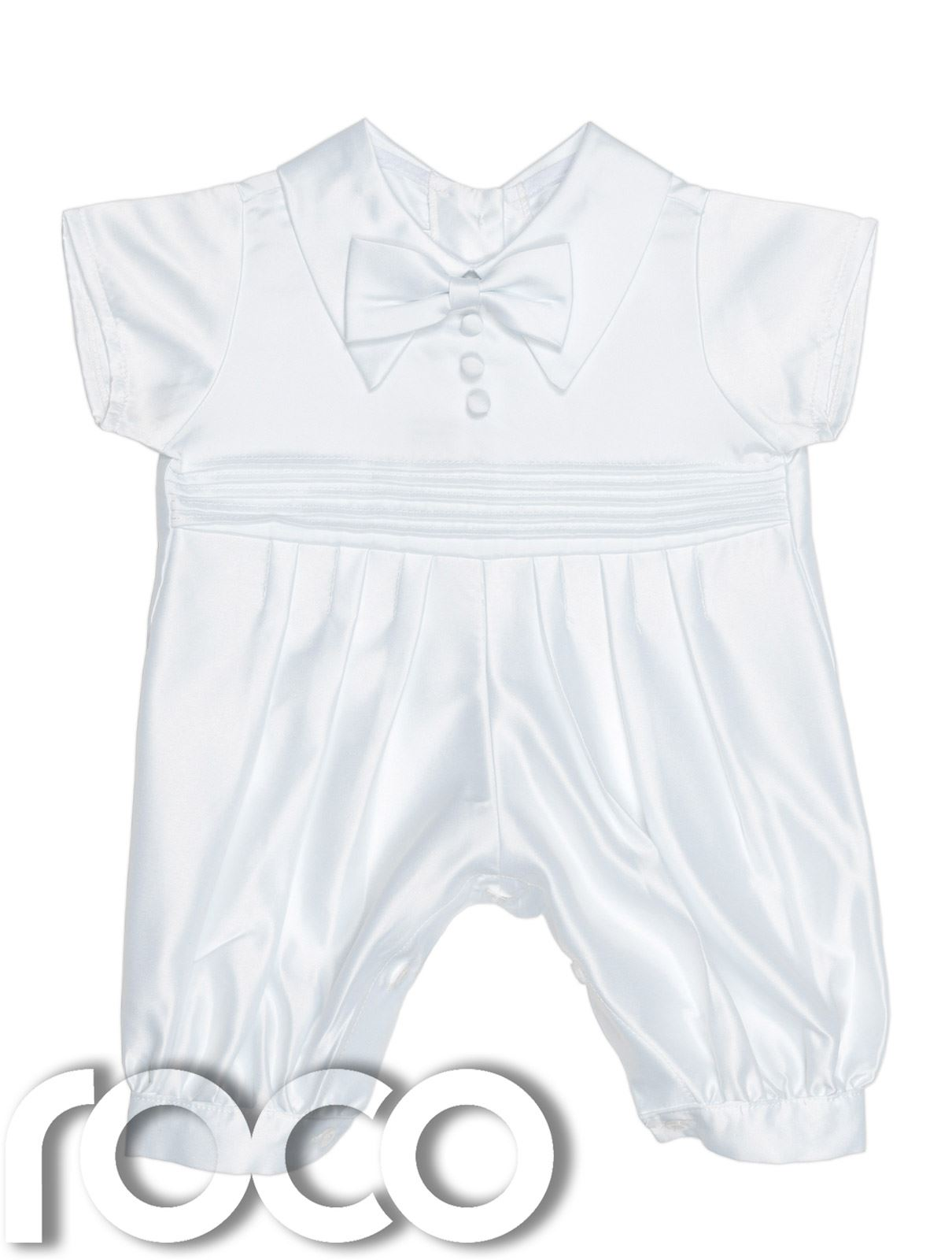 Baby Boys Christening Outfit White Romper Suit White & Blue baby