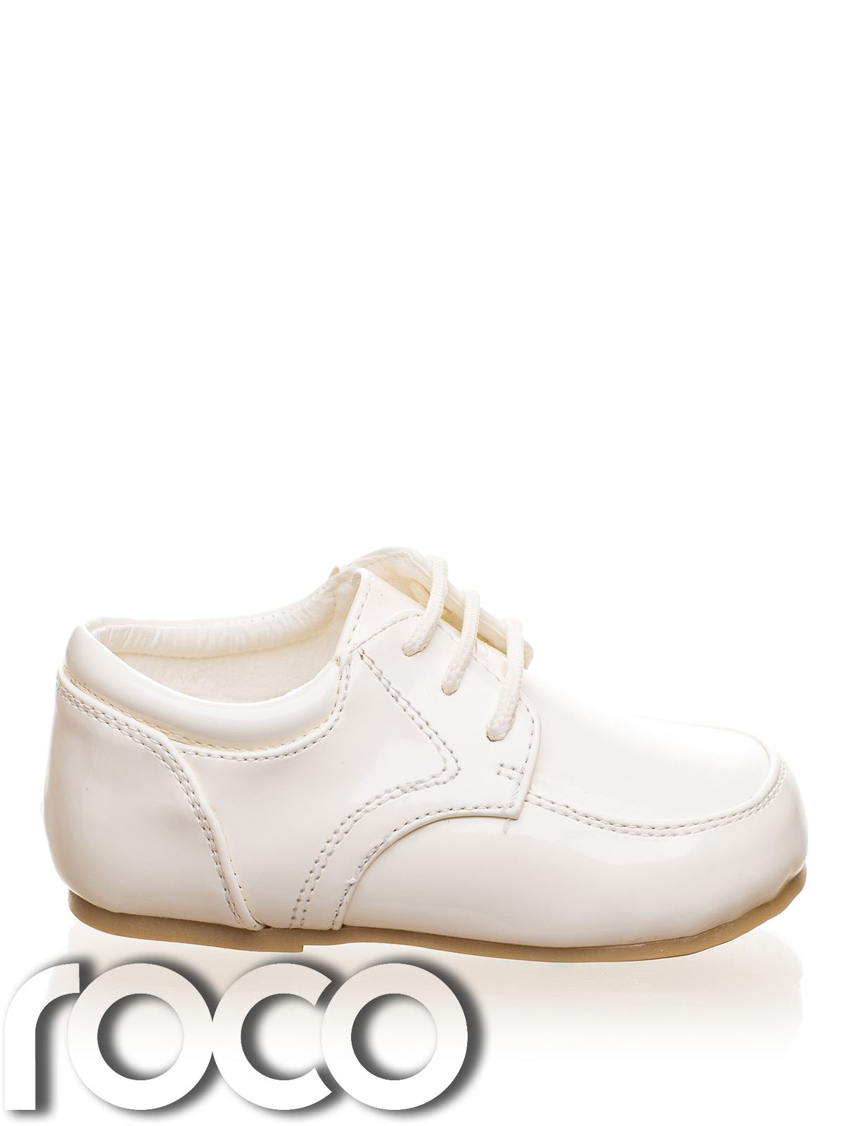 Childrens Baby Boys White Shoes Lace Up Wedding