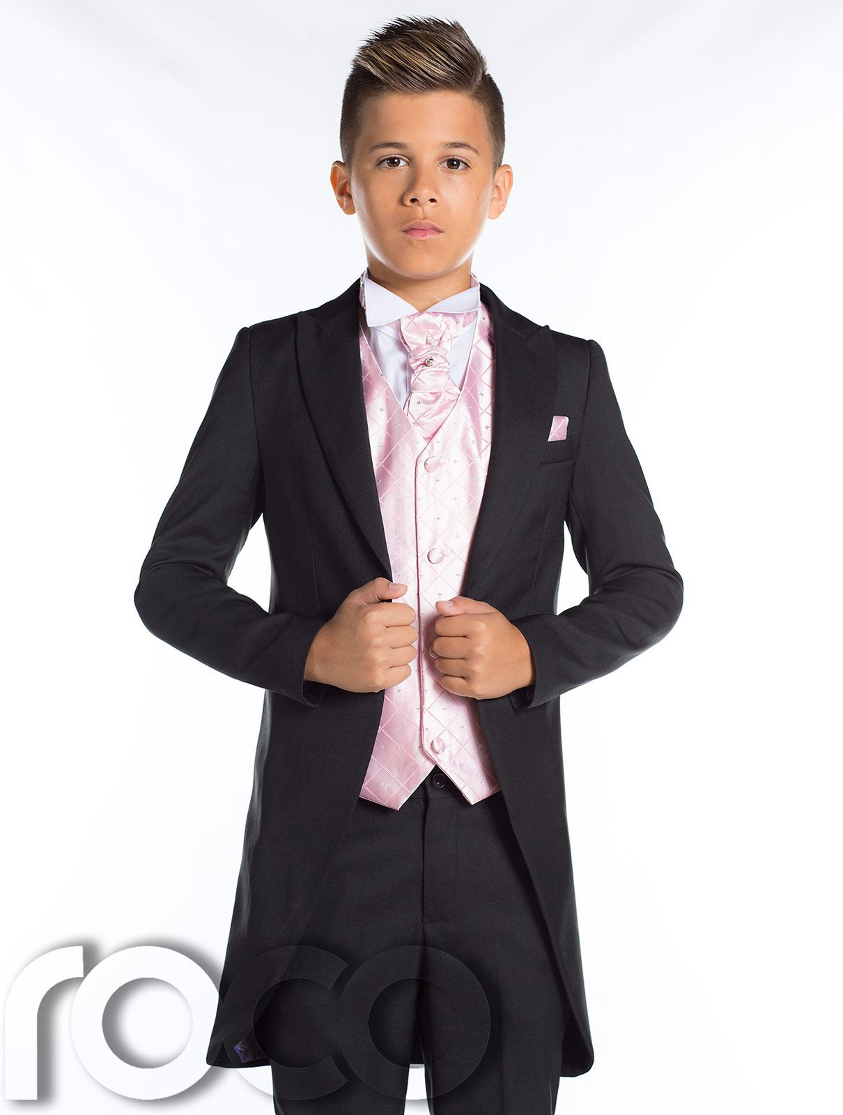 Boys Wedding Suit, Boys Black Tail Suits, Boys Prom Suits, Morning ...