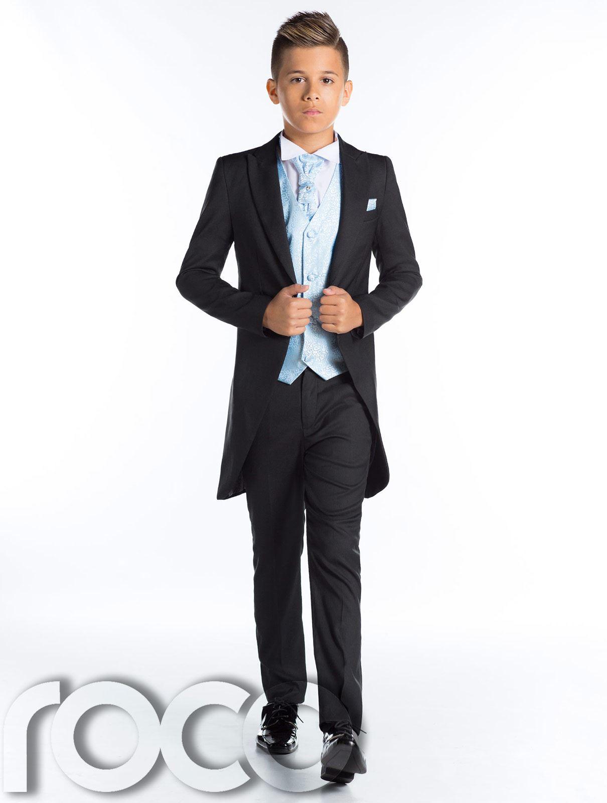 Page Boy Suits, Black Tail Suit, Boys Morning Suit, Black Prom Suit ...