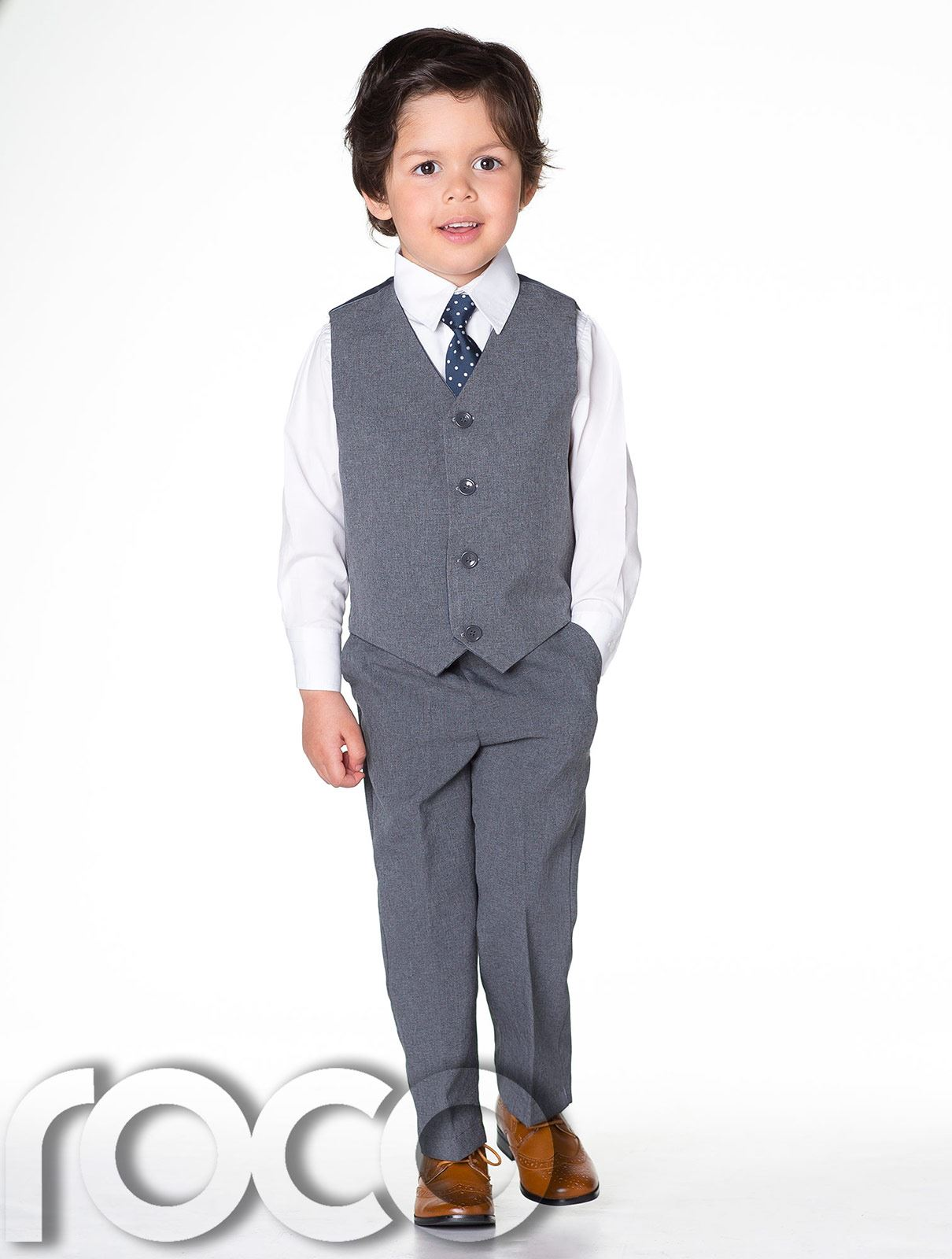 Page-Boy-Suits-Boys-Waistcoat-Suit-Boys-suits-Navy-Suit-Grey-Suit-Blue-Suit thumbnail 3