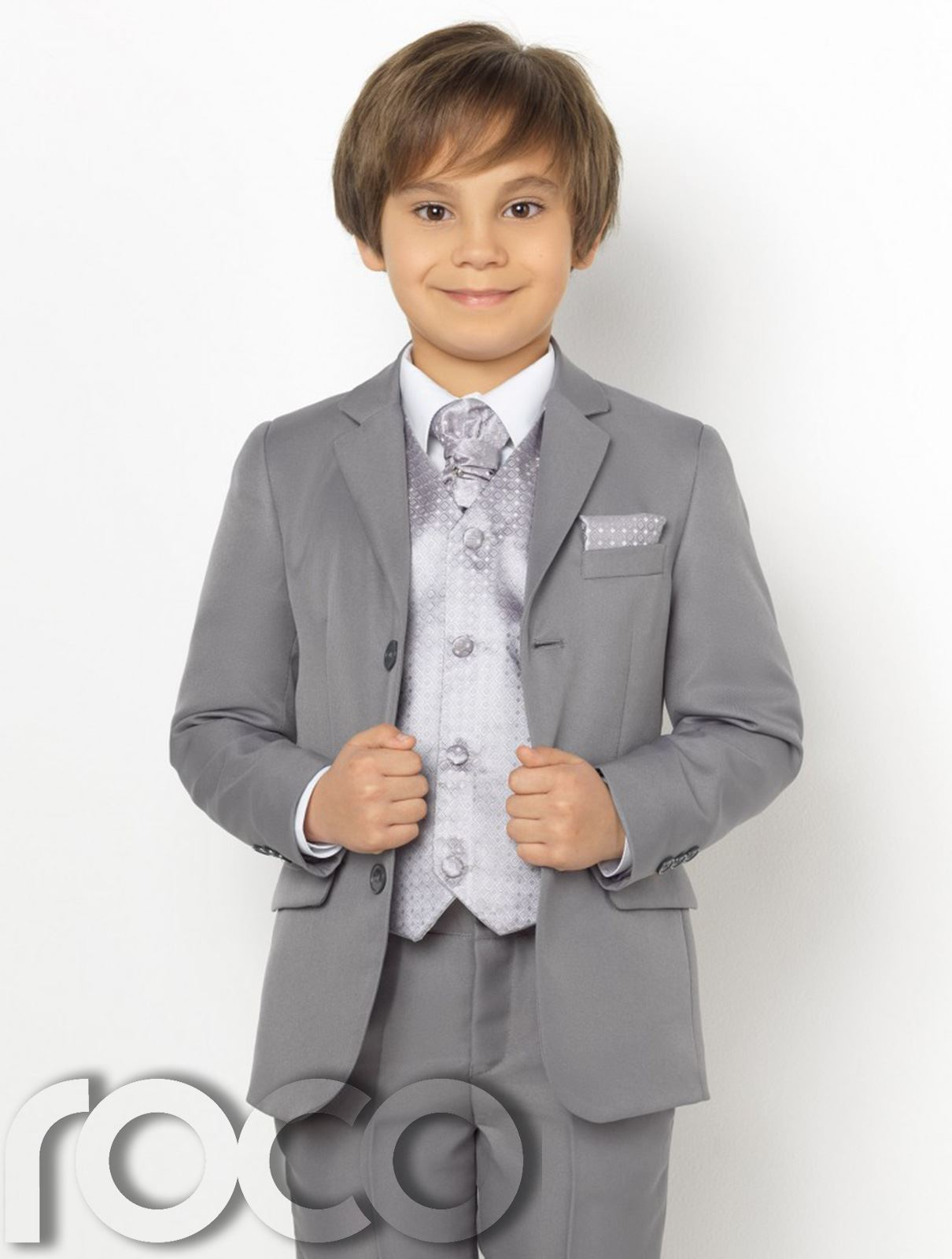 Boys Grey Suit, Page Boy Suits, Boys Prom Suits, Diamond Waistcoat ...