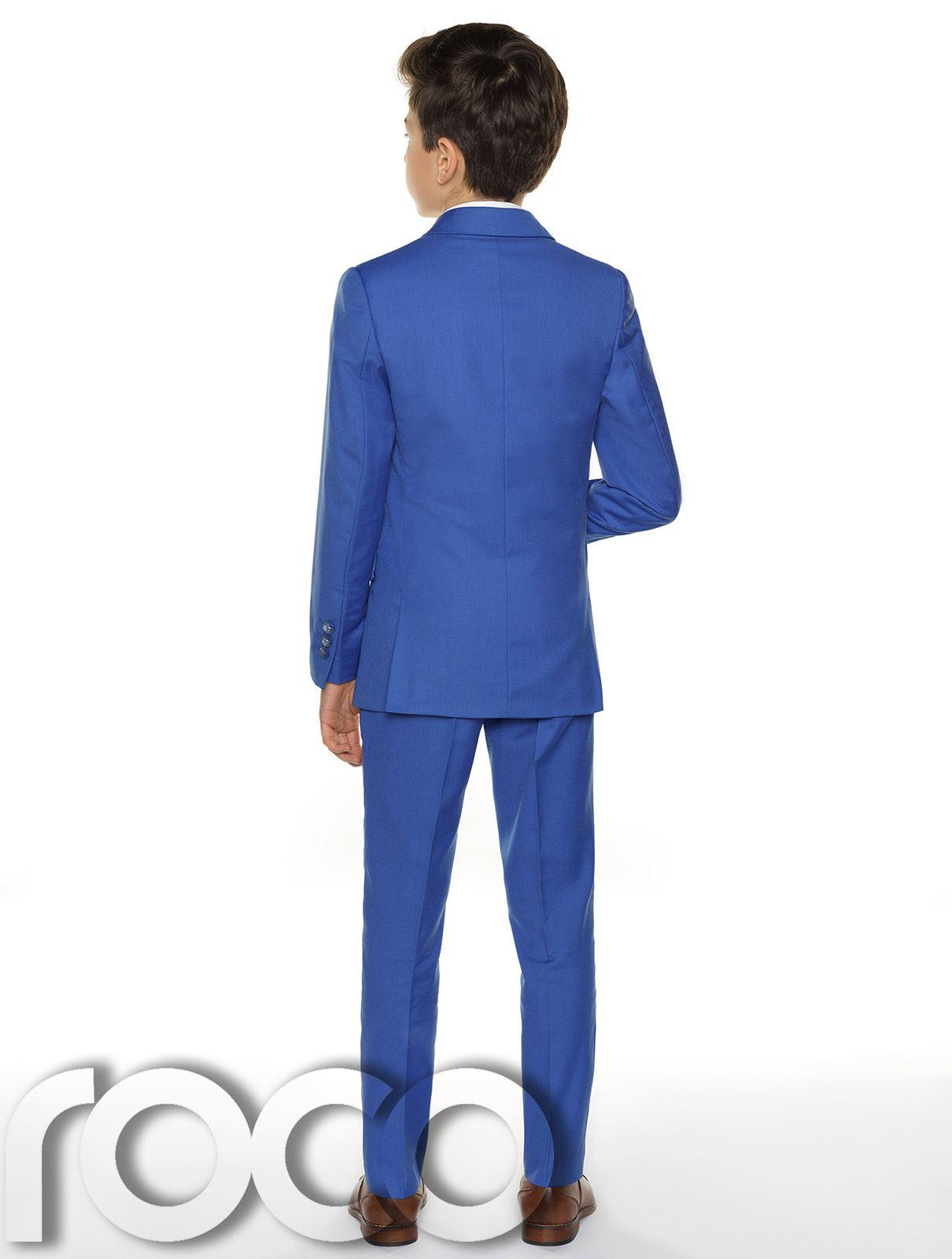 Garcons-Costume-Bleu-Communion-Costume-Bleu-Communion-Costume miniature 8