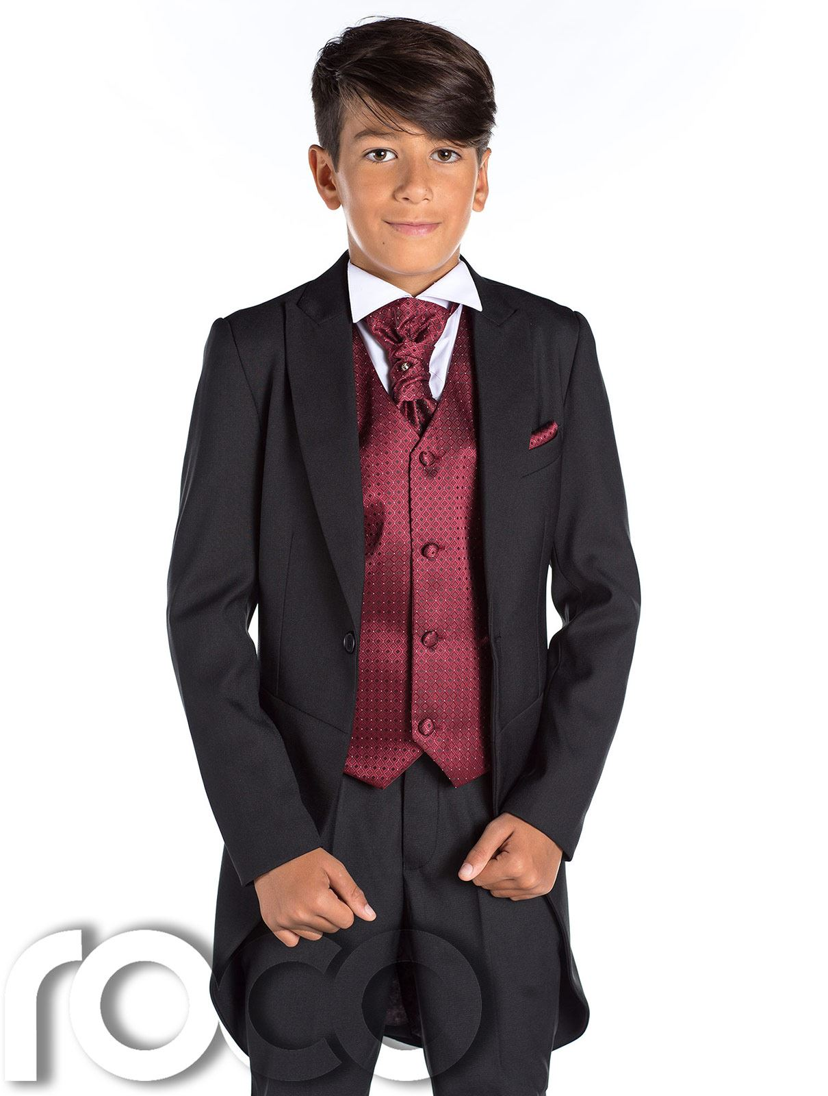 Boys Black Tail Suit, Prom Suit, Page Boy Suit, Boys Black Suit ...