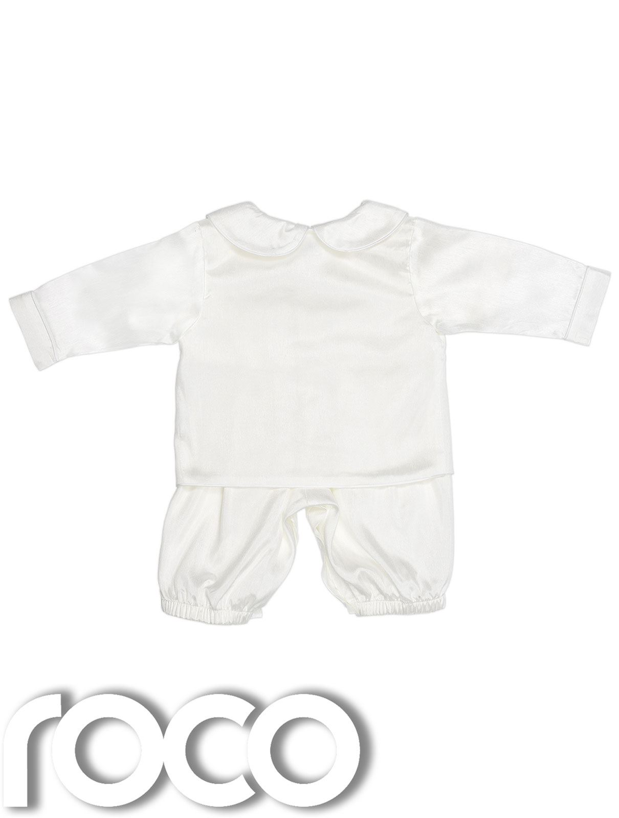 Baby Boys Romper Suit Ivory Romper White baby Rompers Christening