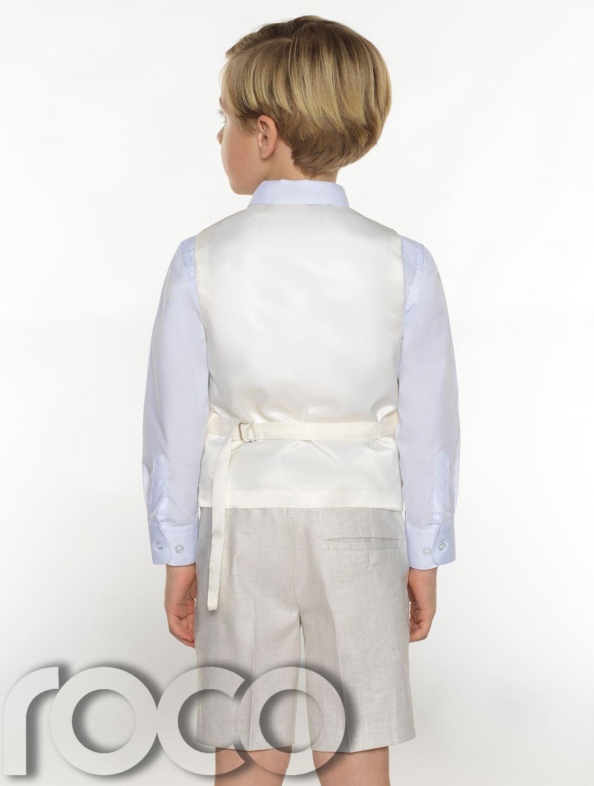 Boys-suits-boys-lin-costumes-page-garcon-tenues-garcons-formal-suits-avec-short miniature 10