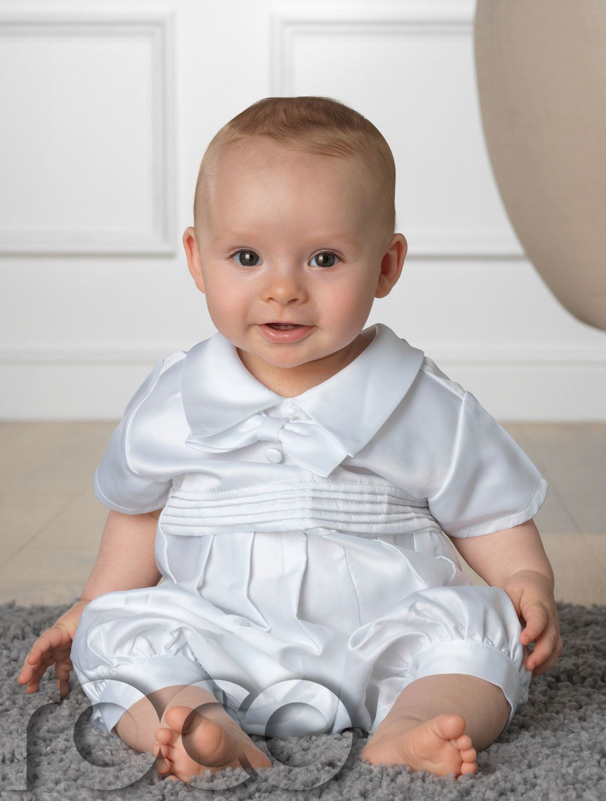 Baby Boys Christening Outfit White Romper Suit White u0026 Blue baby Rompers | eBay